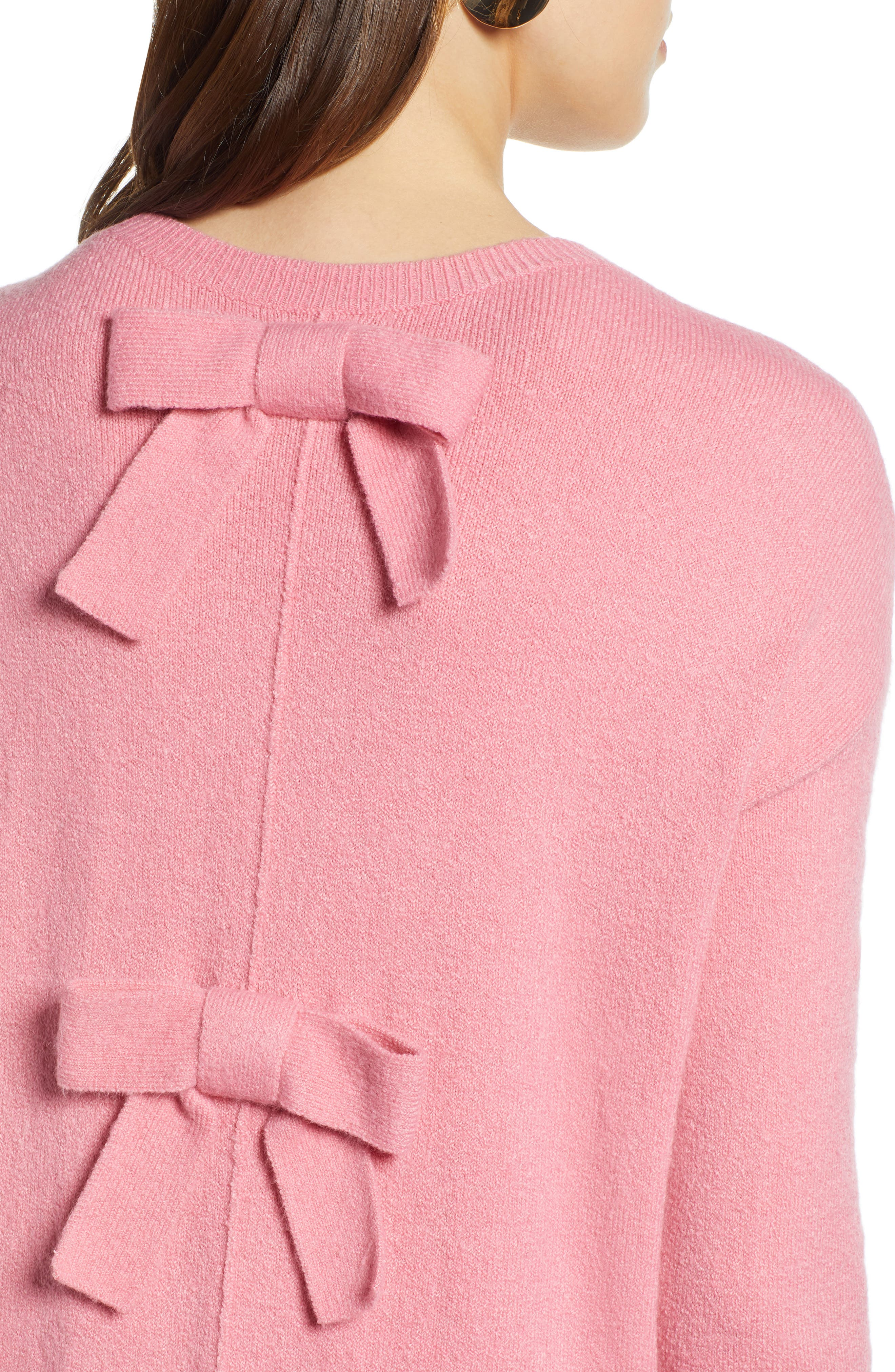 Bow Back Sweater,                             Alternate thumbnail 4, color,                             660