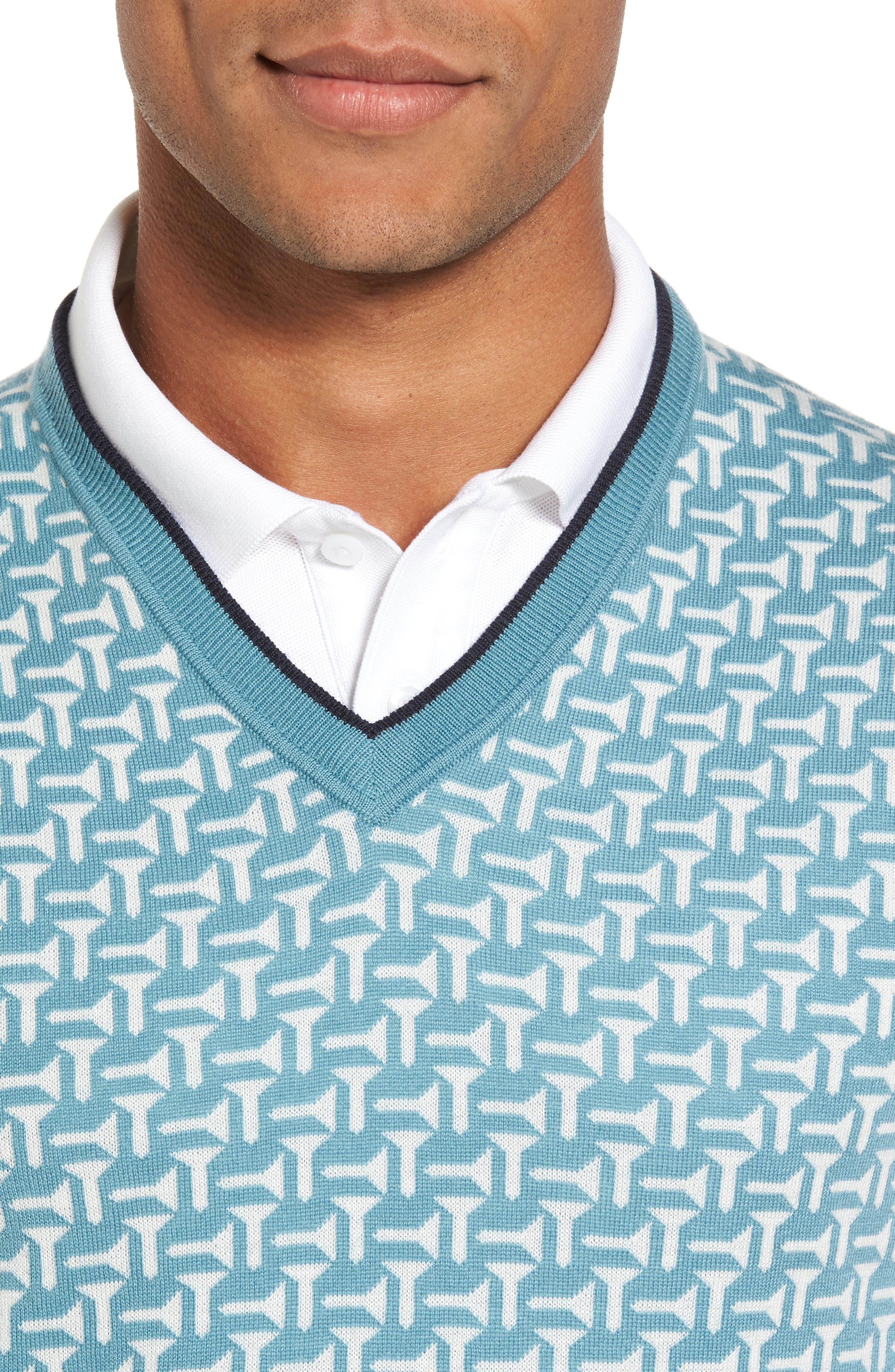 Tommas Golf Merino Sweater Vest,                             Alternate thumbnail 4, color,                             331