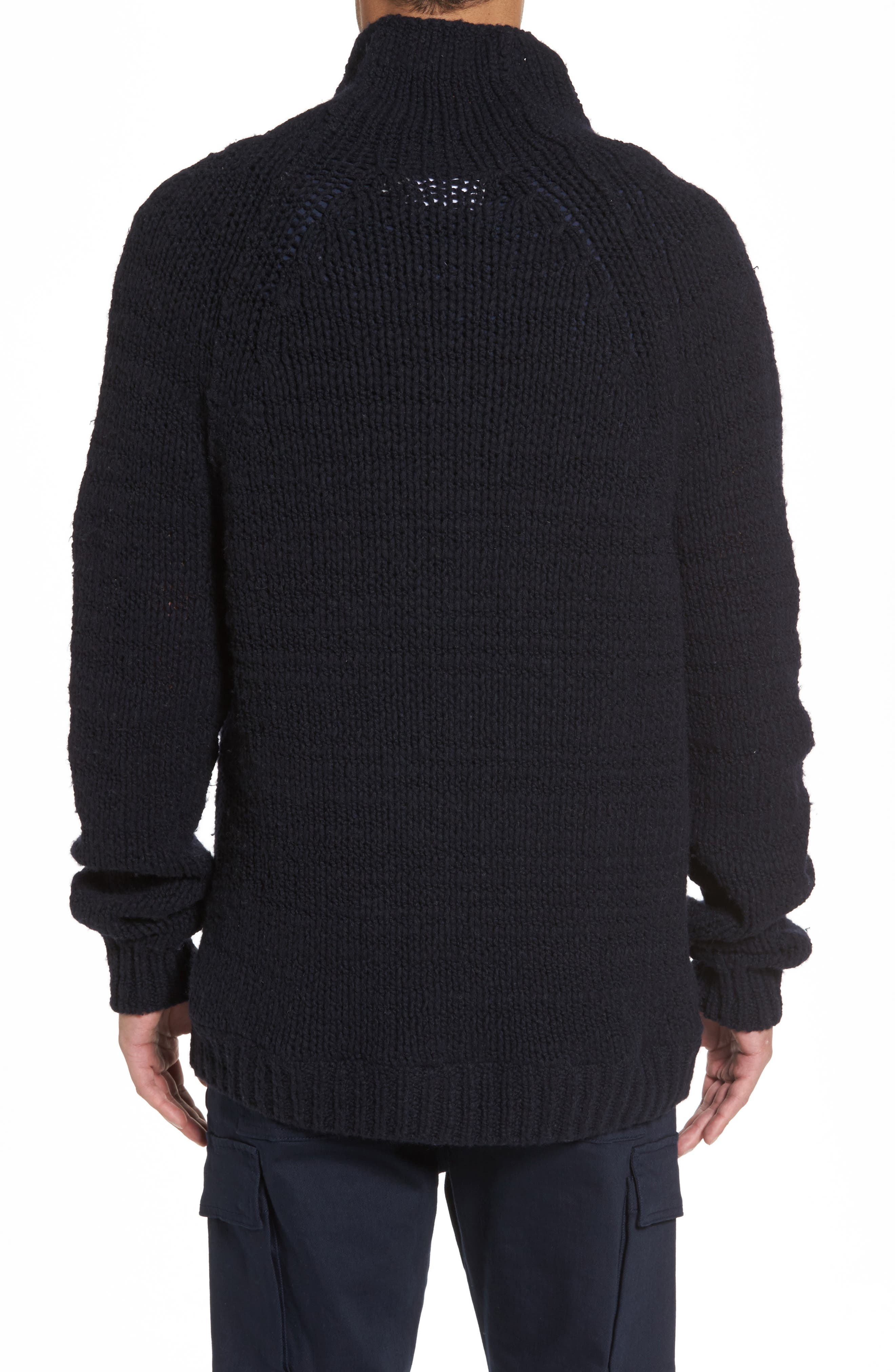 Side Button Mock Neck Sweater,                             Alternate thumbnail 2, color,                             403
