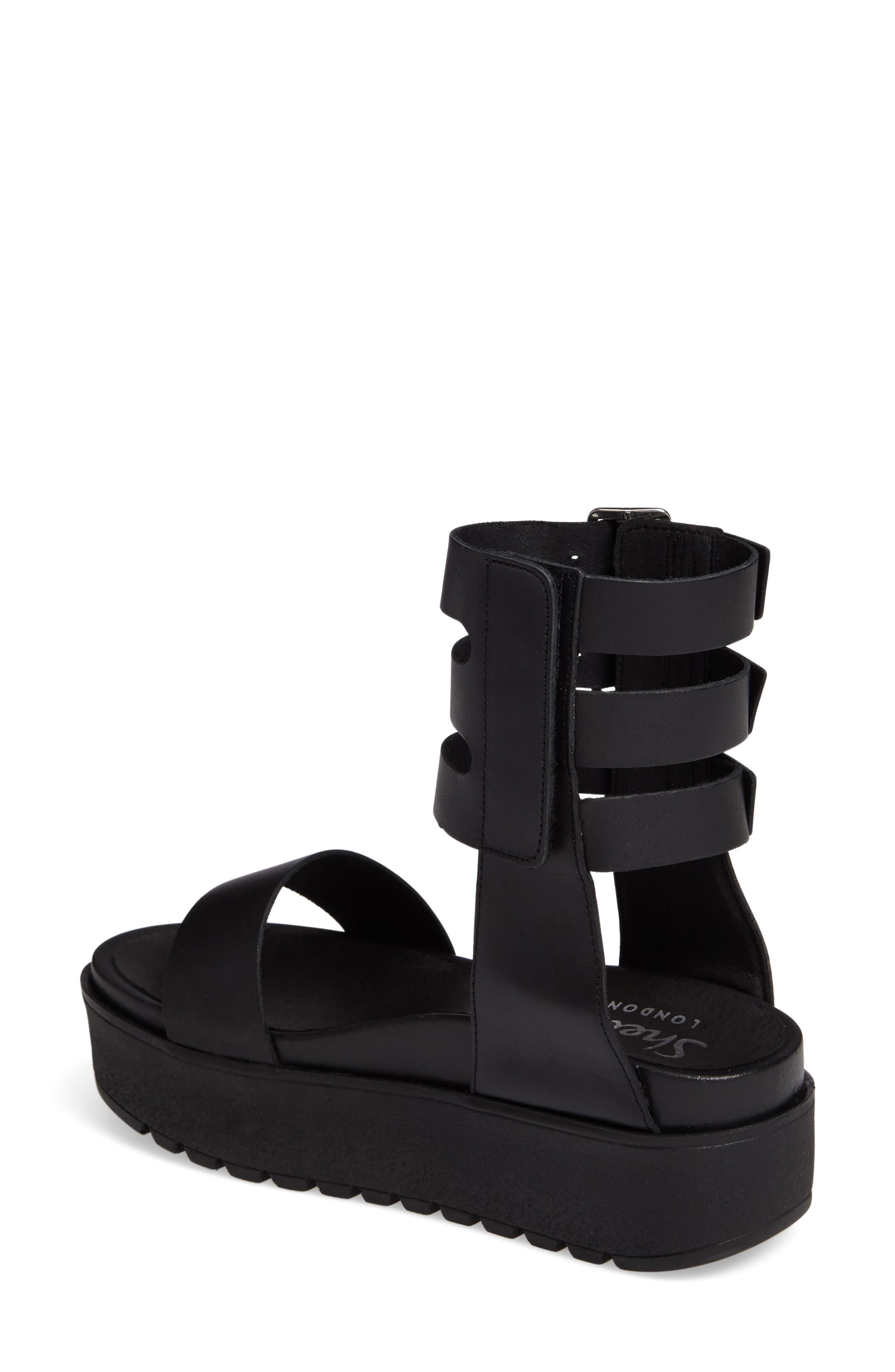 Kegan Platform Gladiator Sandal,                             Alternate thumbnail 2, color,                             001