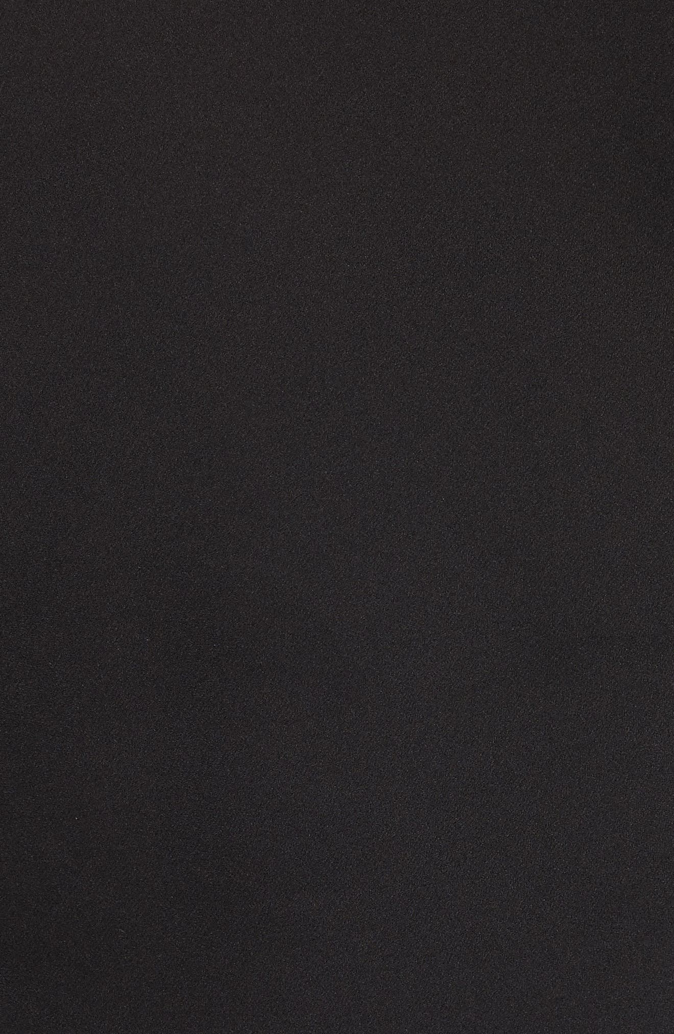 Ruffle Edge Silk Dress,                             Alternate thumbnail 5, color,                             001