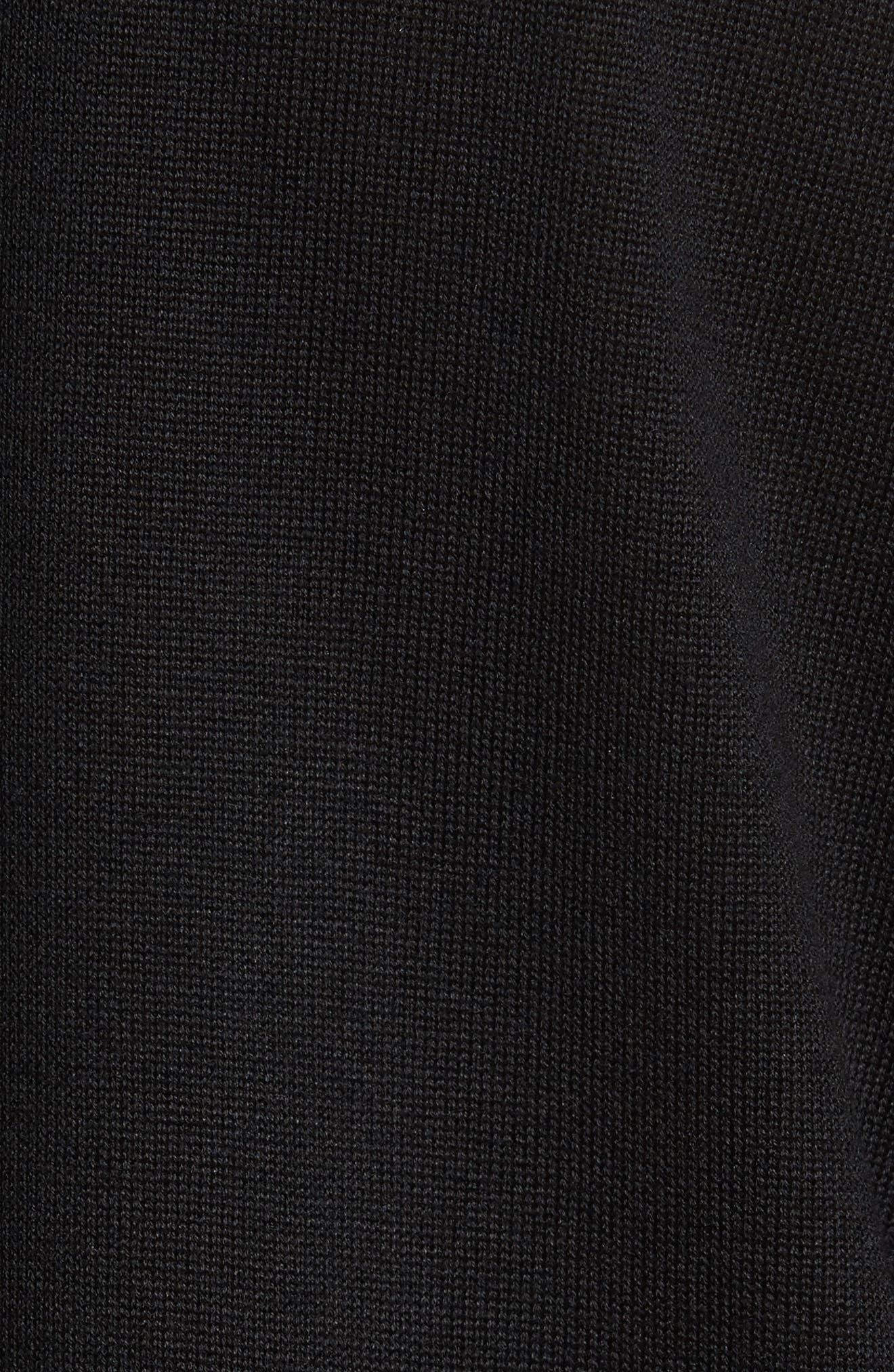 Lace & Knit Top,                             Alternate thumbnail 5, color,                             001