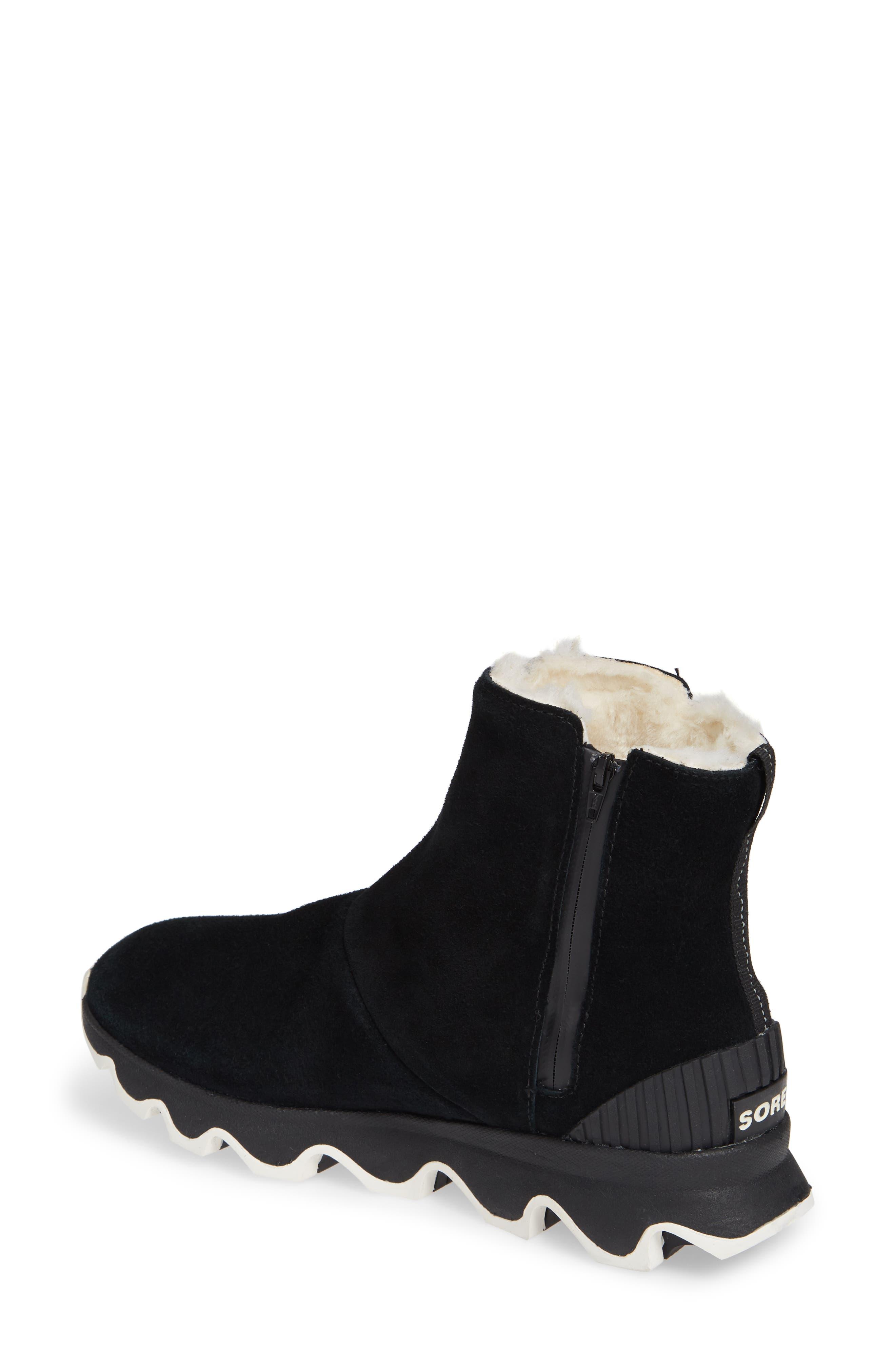 Kinetic Insulated Waterproof Short Boots,                             Alternate thumbnail 2, color,                             BLACK/ SEA SALT