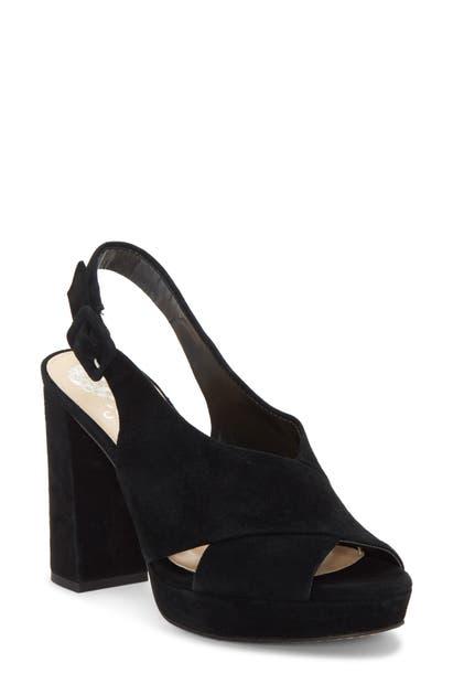 2e0c98bcb7c Vince Camuto Women s Javasan Peep Toe Suede Platform Sandals In Black 01  Suede