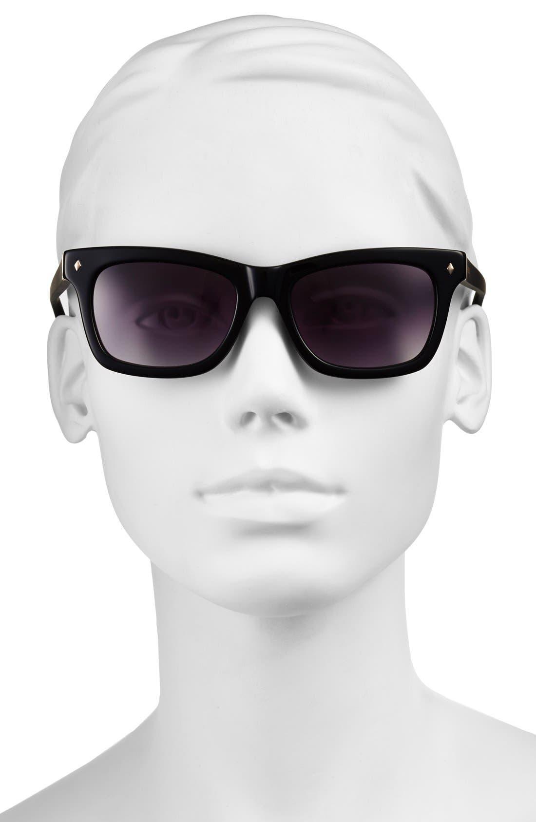 'Brynn' 52mm Retro Sunglasses,                             Alternate thumbnail 2, color,                             001