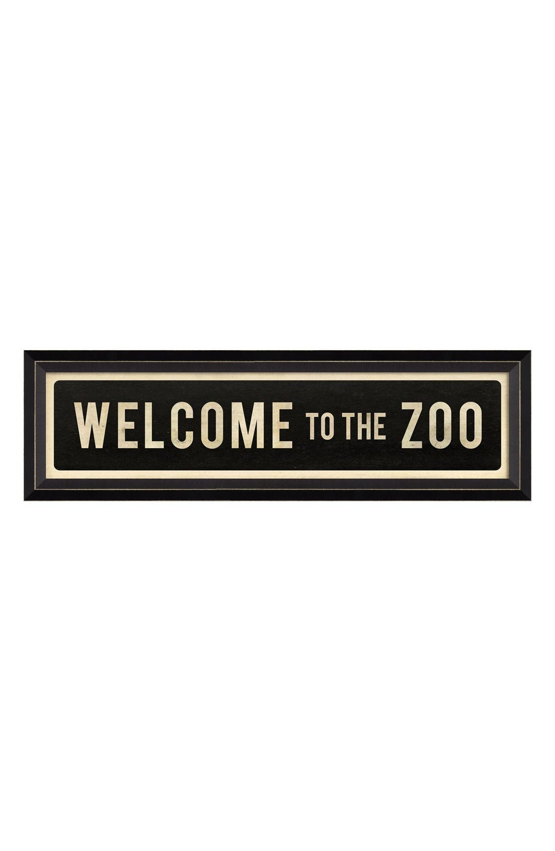'Welcome to the Zoo' Vintage Look Street Sign Artwork, Main, color, 001