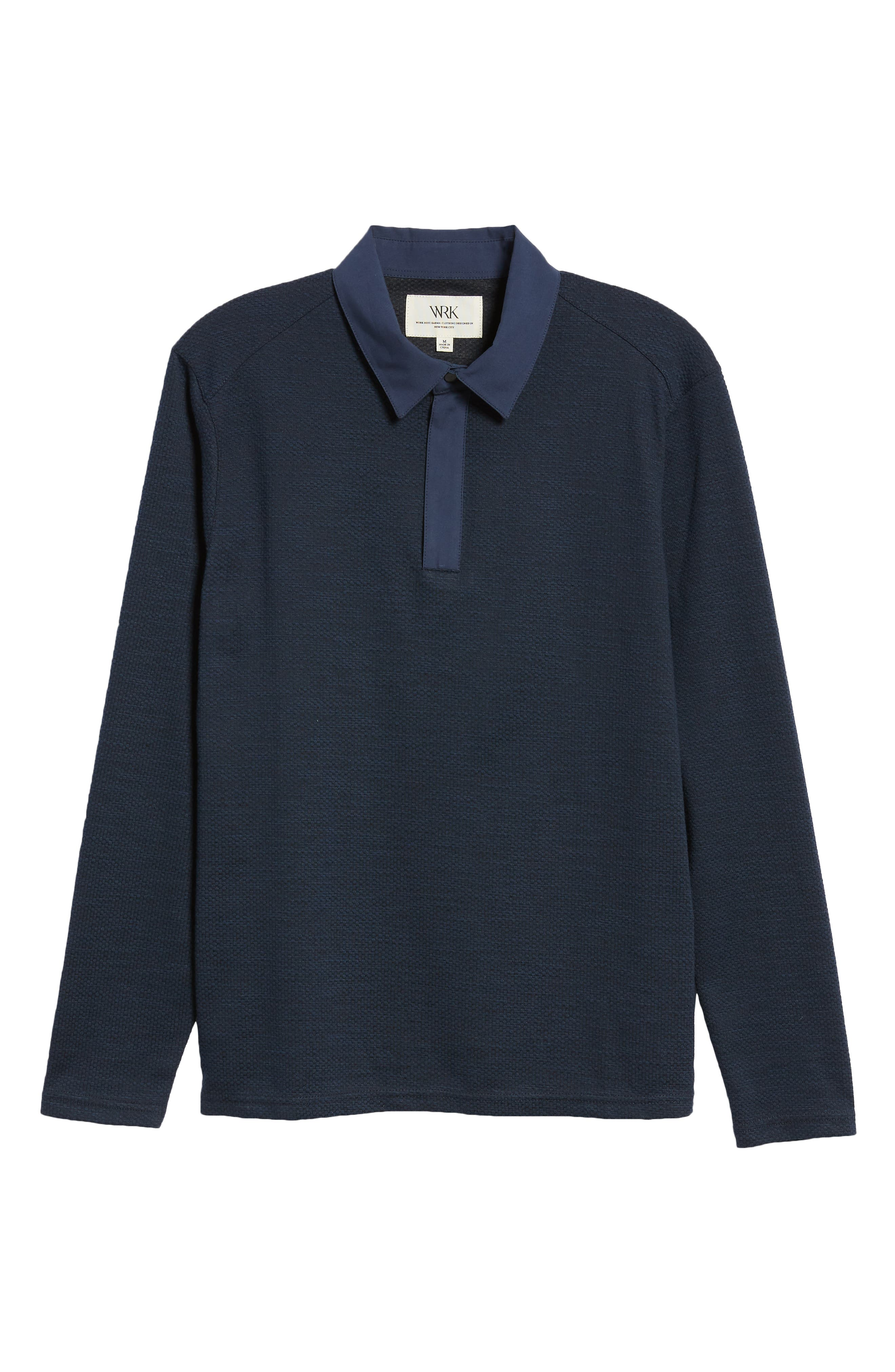Echo Slim Fit Polo,                             Alternate thumbnail 6, color,                             NAVY
