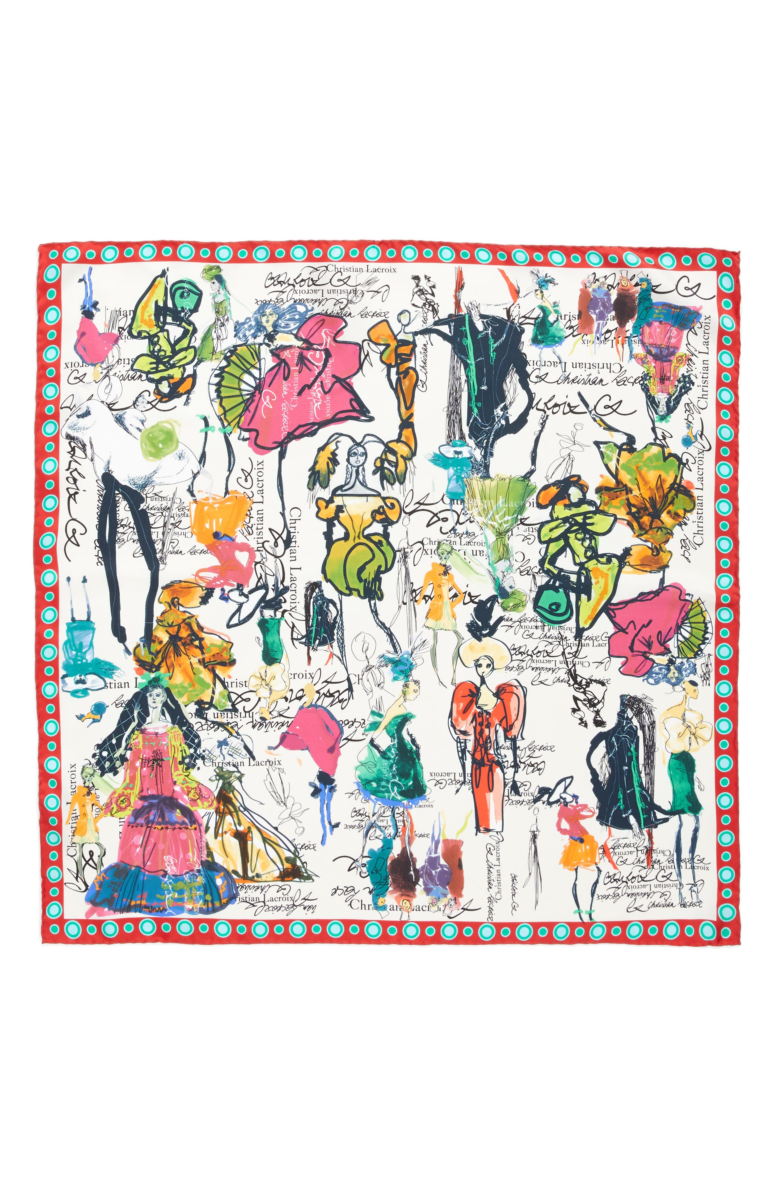 Croquis Silk Square Scarf,                         Main,                         color, 100