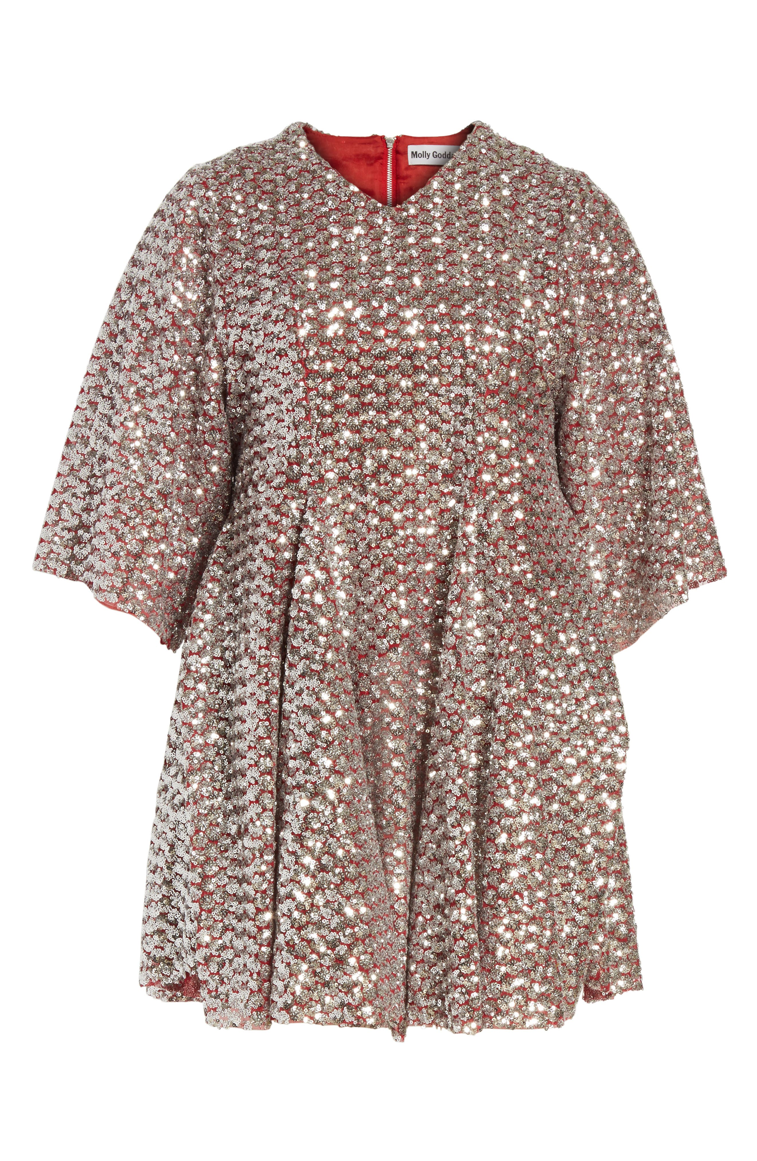 Simmi Sequin Dress,                             Alternate thumbnail 6, color,                             040