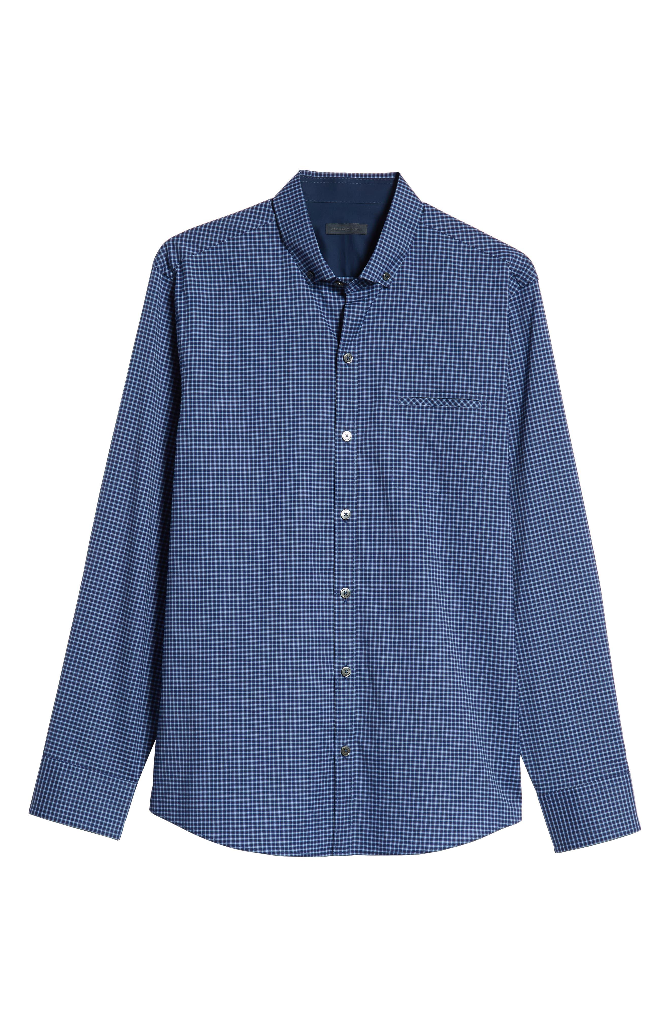 Matusiak Regular Fit Check Sport Shirt,                             Alternate thumbnail 5, color,                             MIDNIGHT