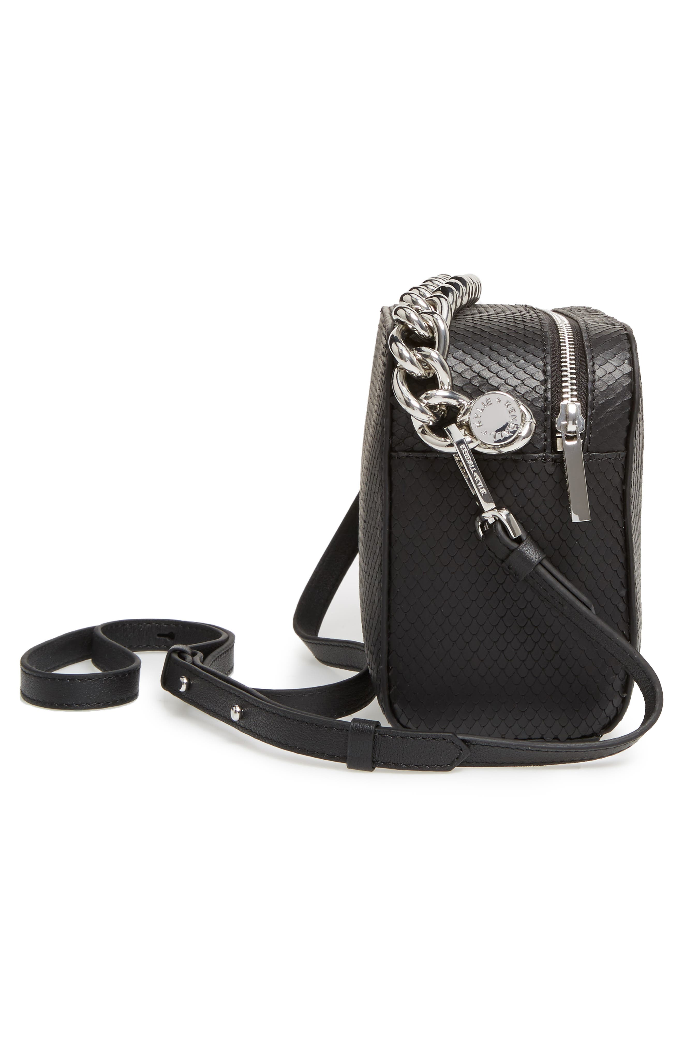 Lucy Leather Crossbody Bag,                             Alternate thumbnail 5, color,                             001