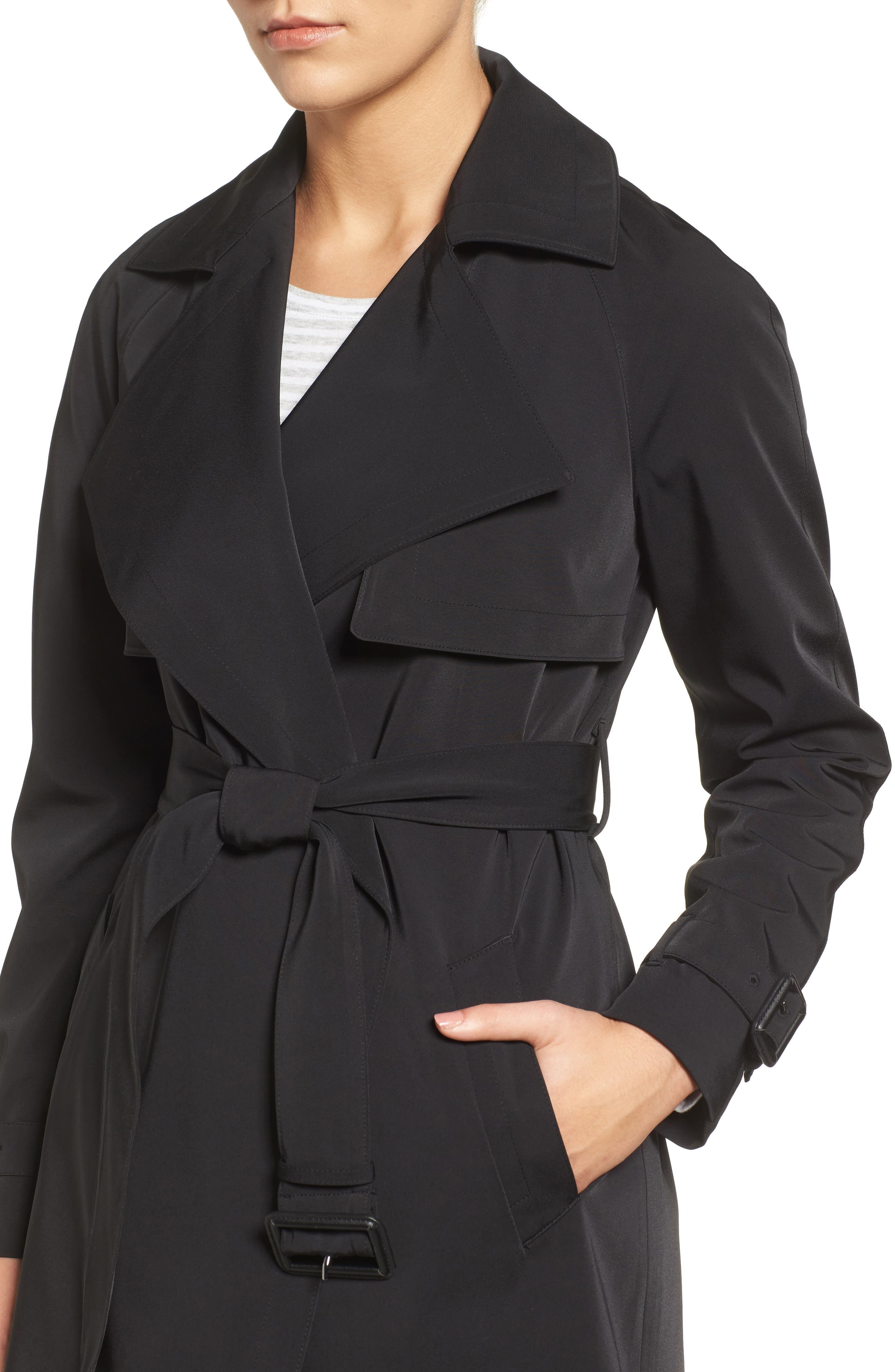 Trench Coat,                             Alternate thumbnail 4, color,                             001