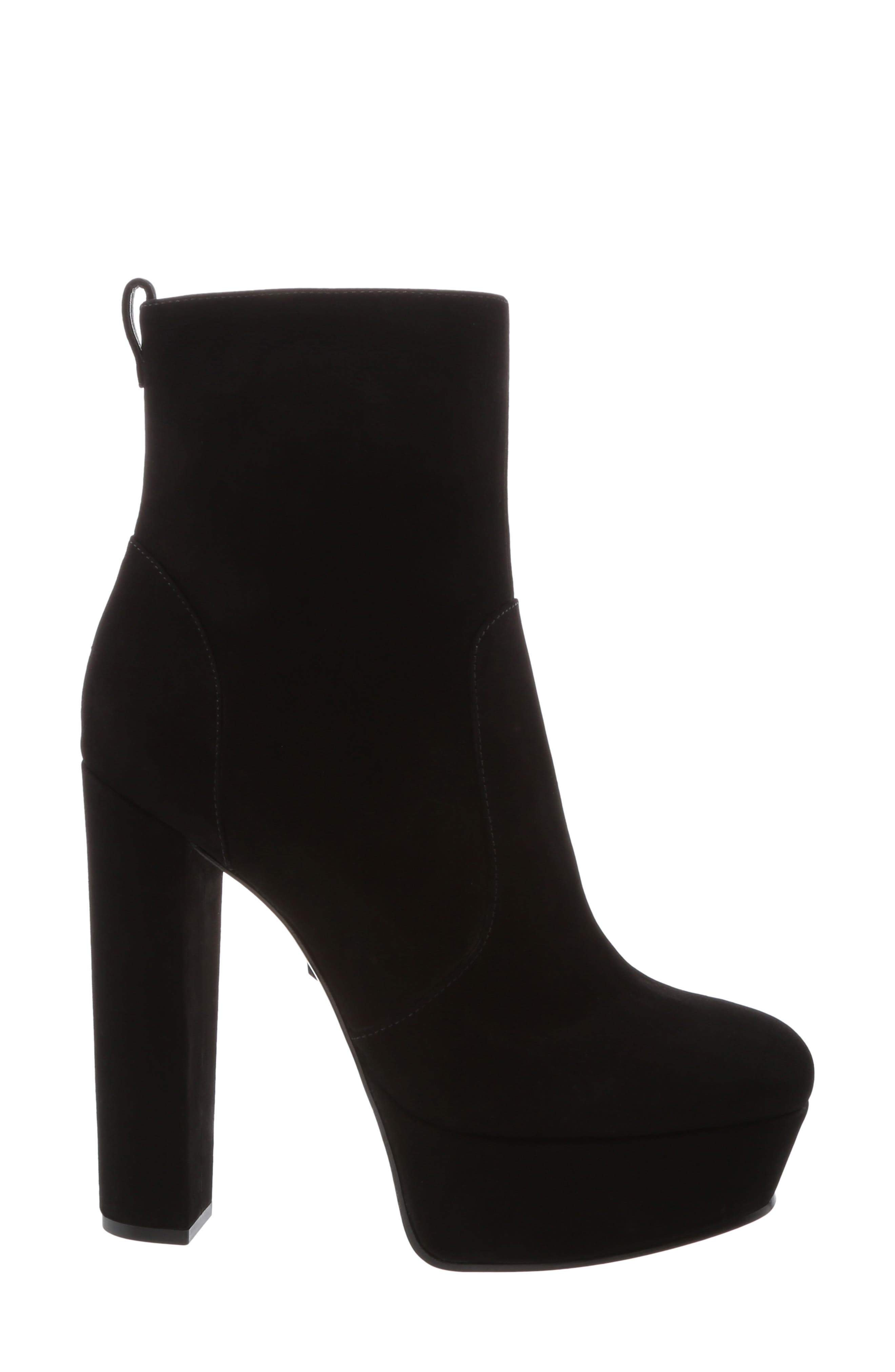July Platform Bootie,                             Alternate thumbnail 3, color,                             BLACK NUBUCK LEATHER