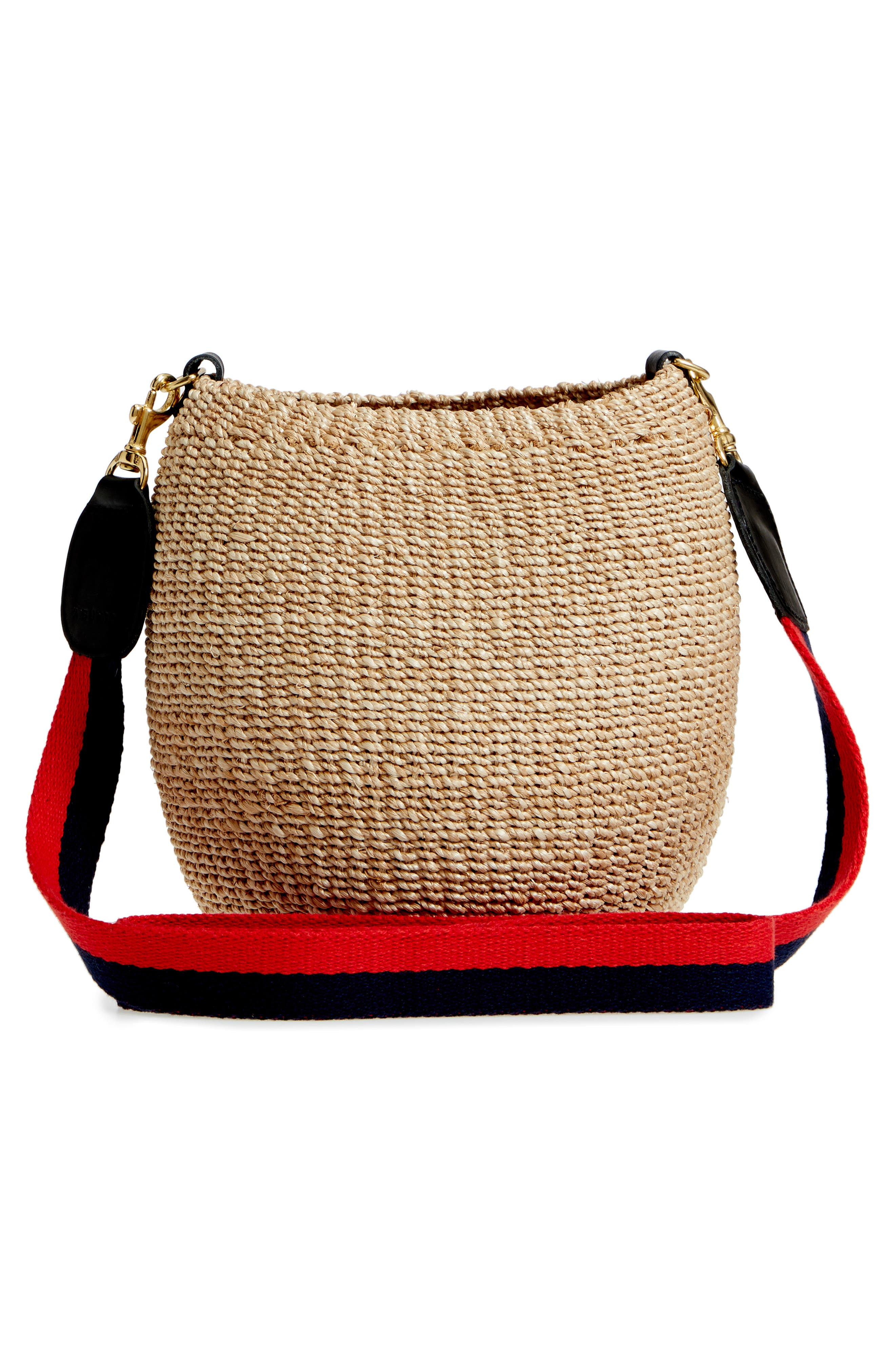 Pot de Miel Top Handle Straw Basket Bag,                             Alternate thumbnail 12, color,
