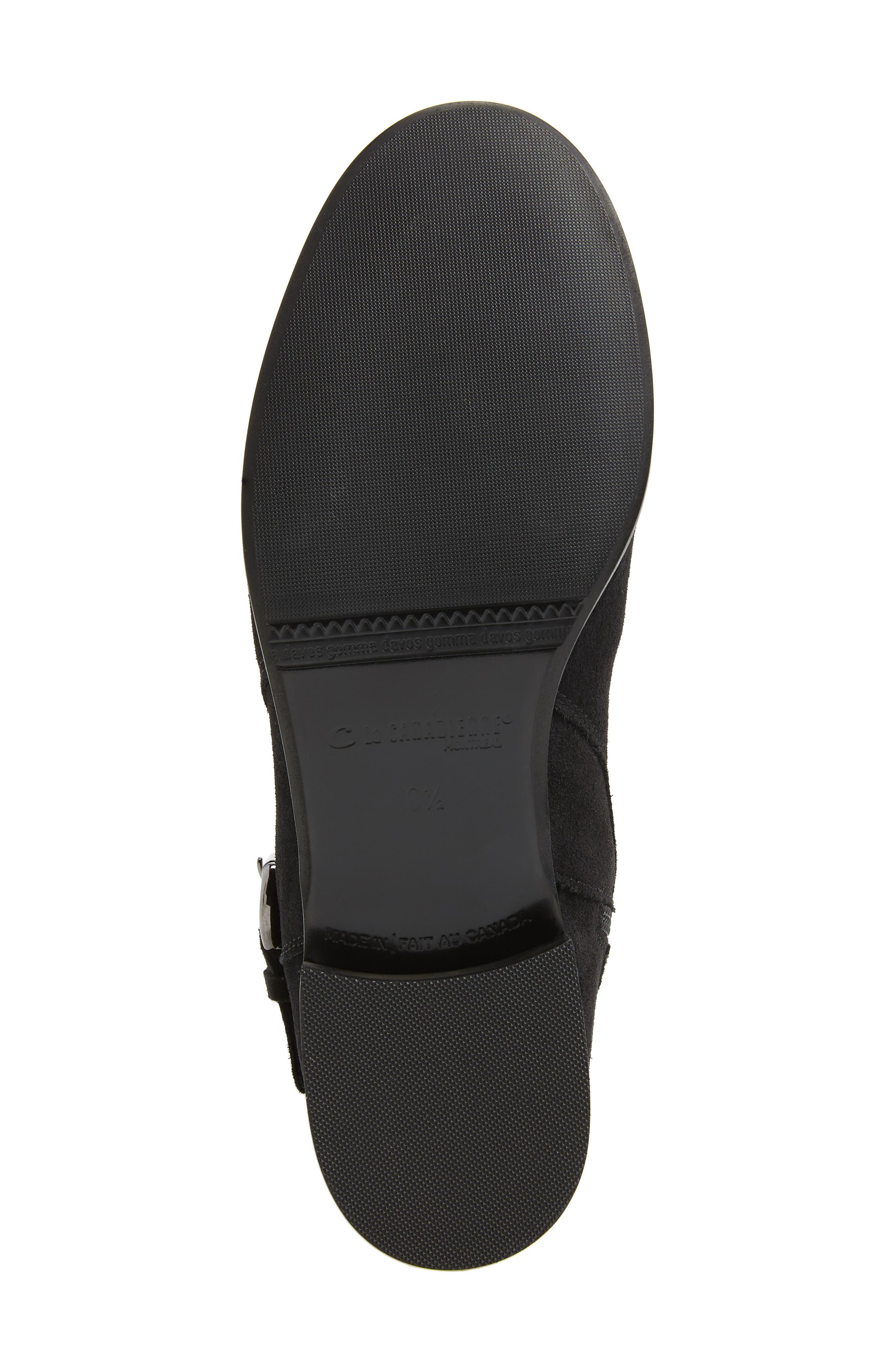 'Stefanie' Waterproof Boot,                             Alternate thumbnail 6, color,                             BLACK SUEDE