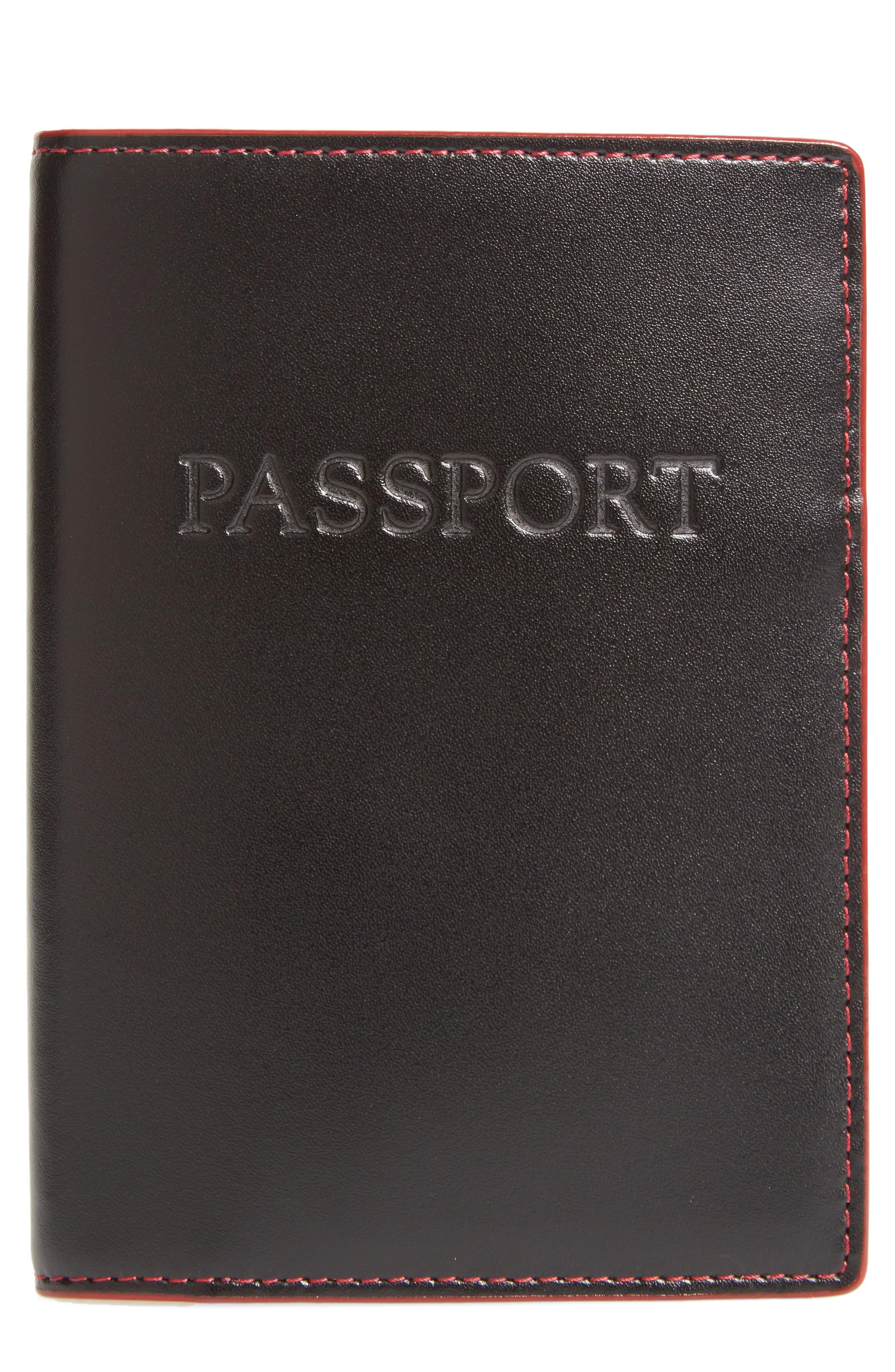 Lodis 'Audrey' Passport Case,                             Main thumbnail 1, color,                             001