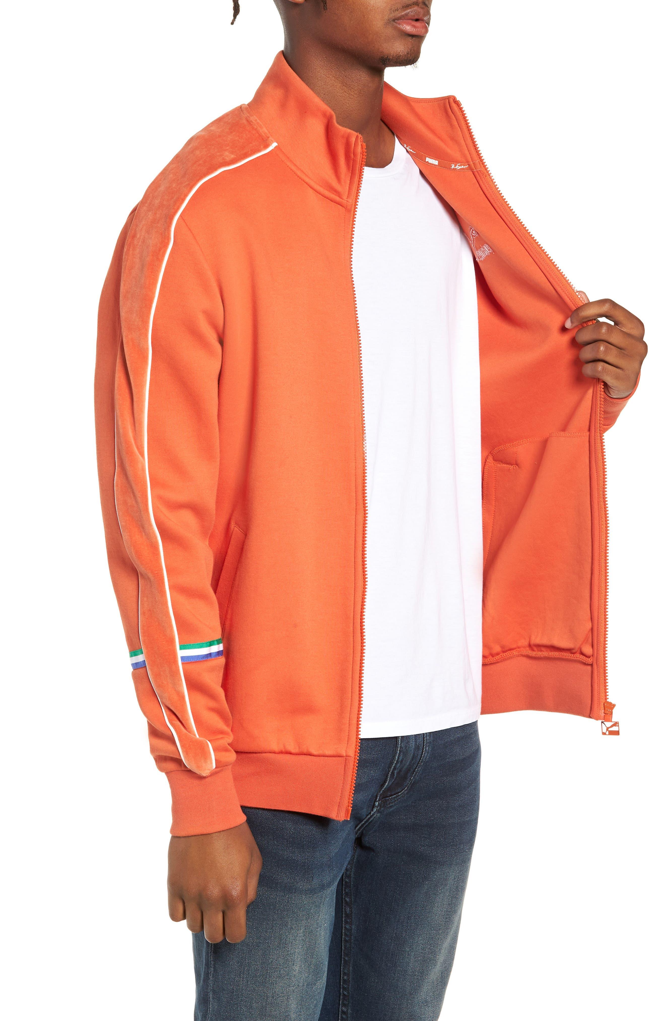X Big Sean T7 Track Jacket,                             Alternate thumbnail 3, color,                             BURNT OCHRE