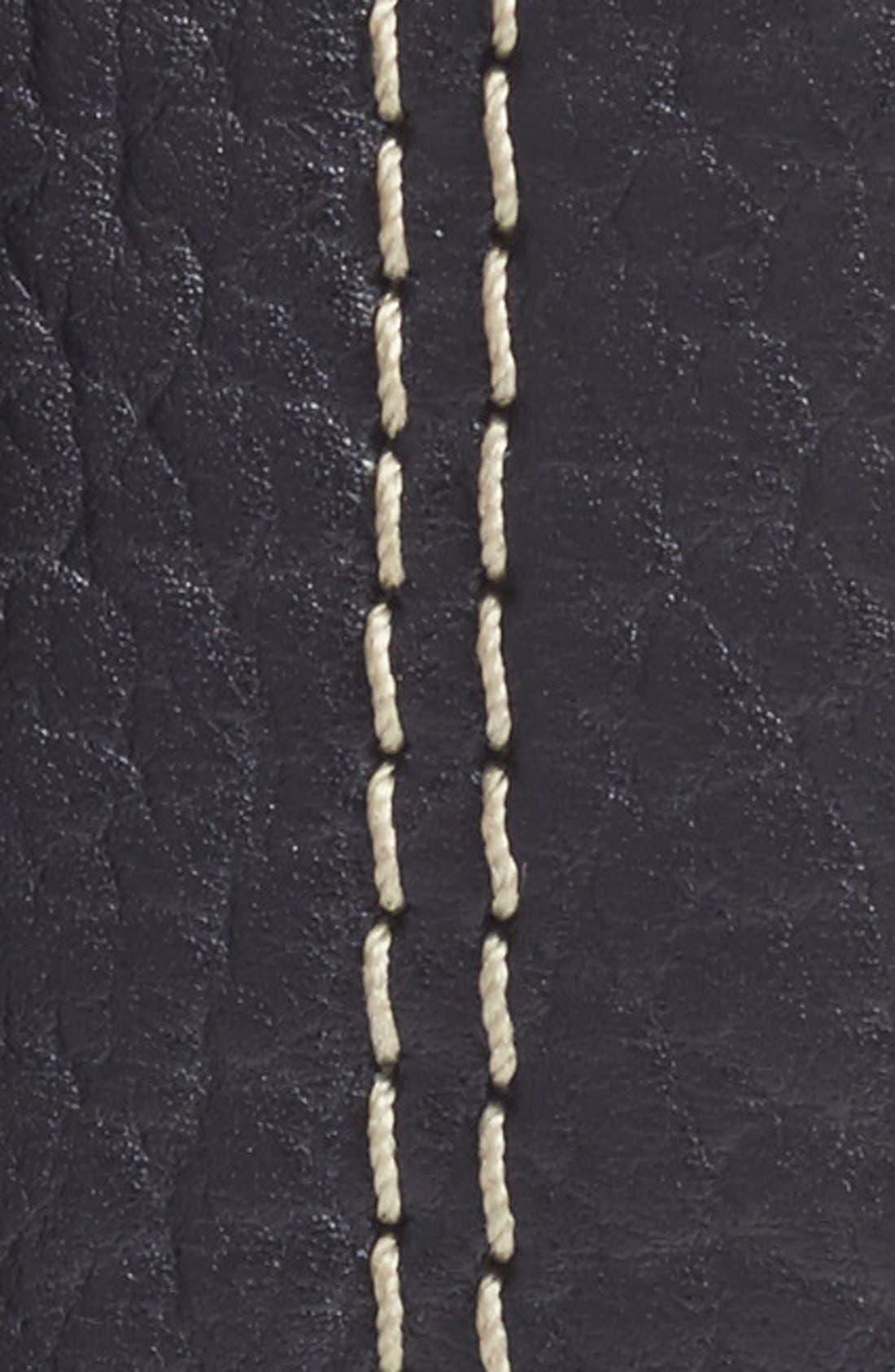 Bison Leather Belt,                             Alternate thumbnail 2, color,                             BLACK