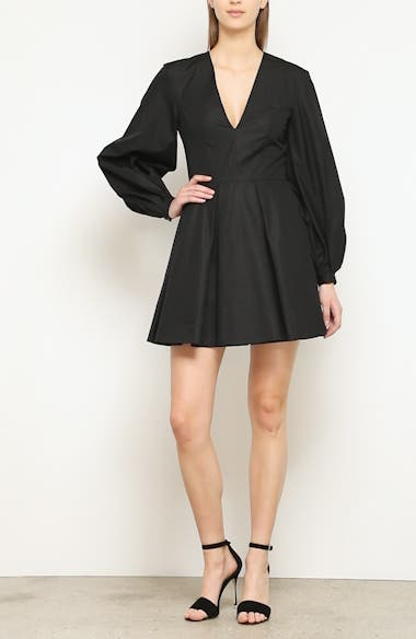 Denise Ballon Sleeve Minidress, video thumbnail