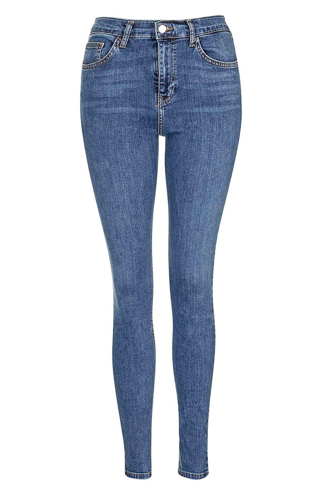 'Jamie' High Rise Ankle Skinny Jeans,                             Alternate thumbnail 2, color,                             MID DENIM