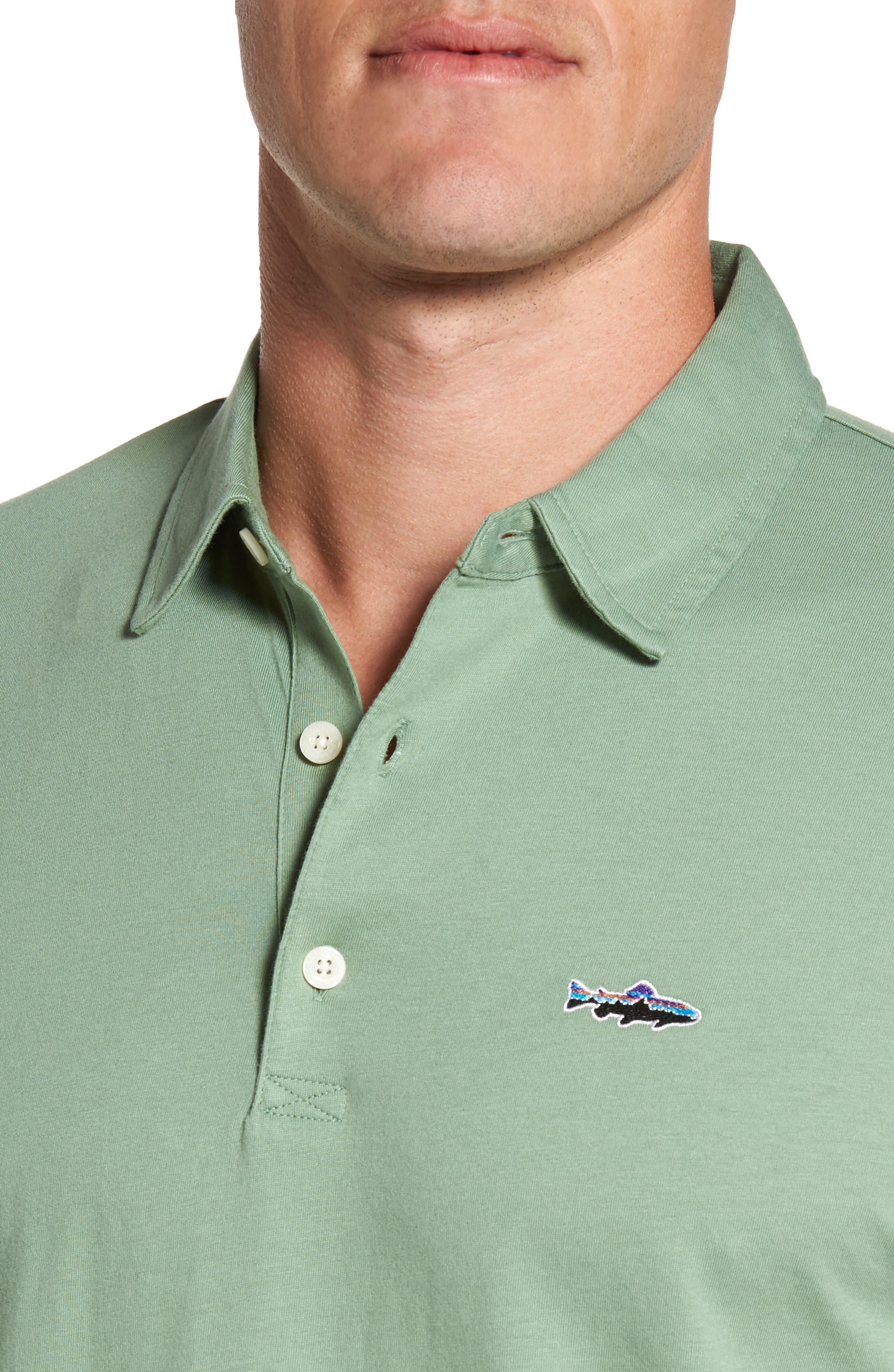 'Trout Fitz Roy' Organic Cotton Polo,                             Alternate thumbnail 4, color,                             307