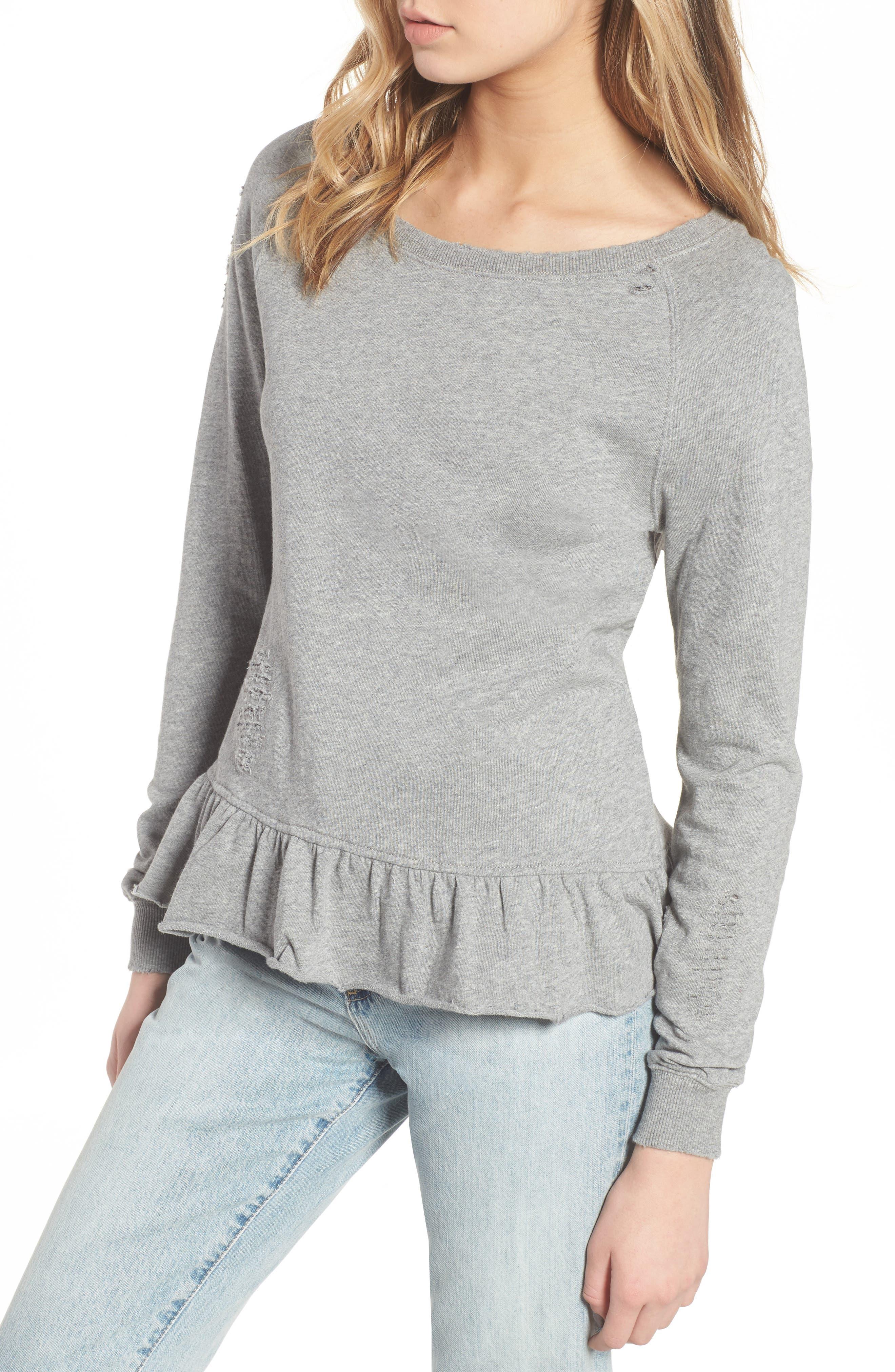Ruffle Sweatshirt,                             Main thumbnail 1, color,                             031