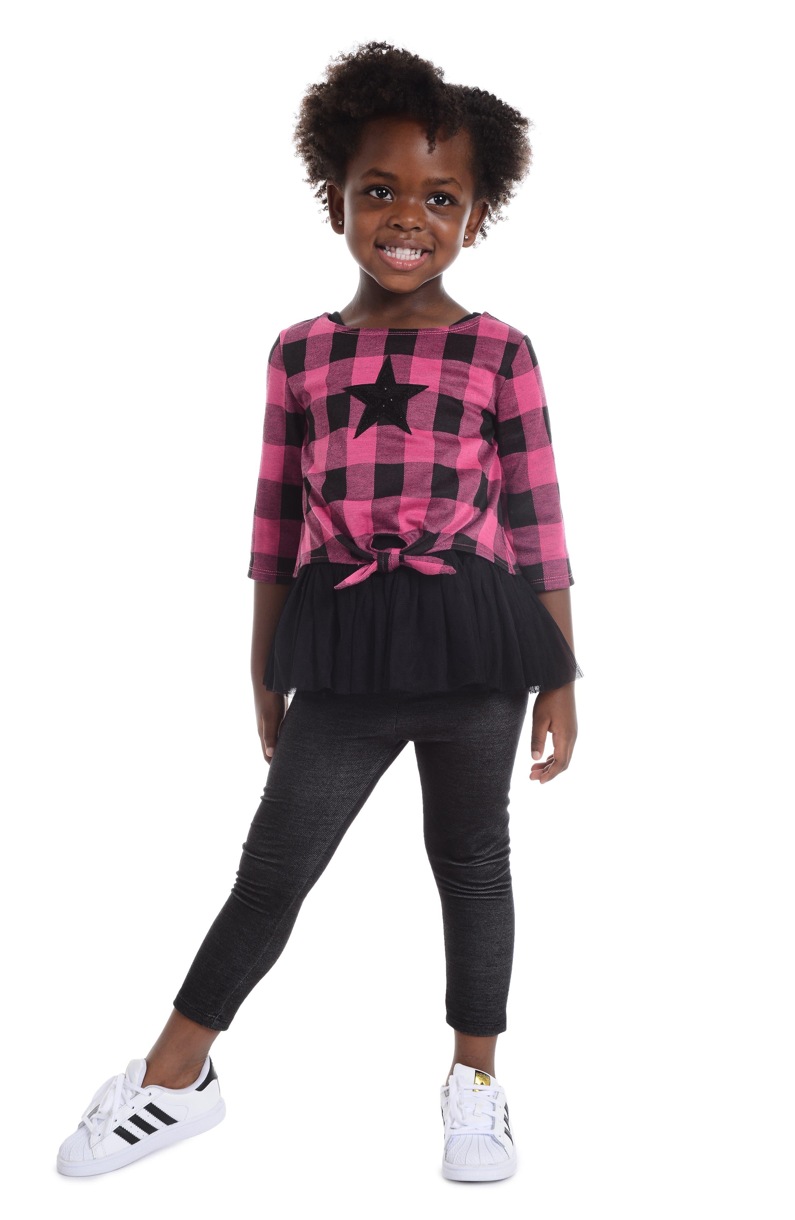 Sequin Star Top, Tutu Dress & Leggings Set,                             Alternate thumbnail 3, color,                             663