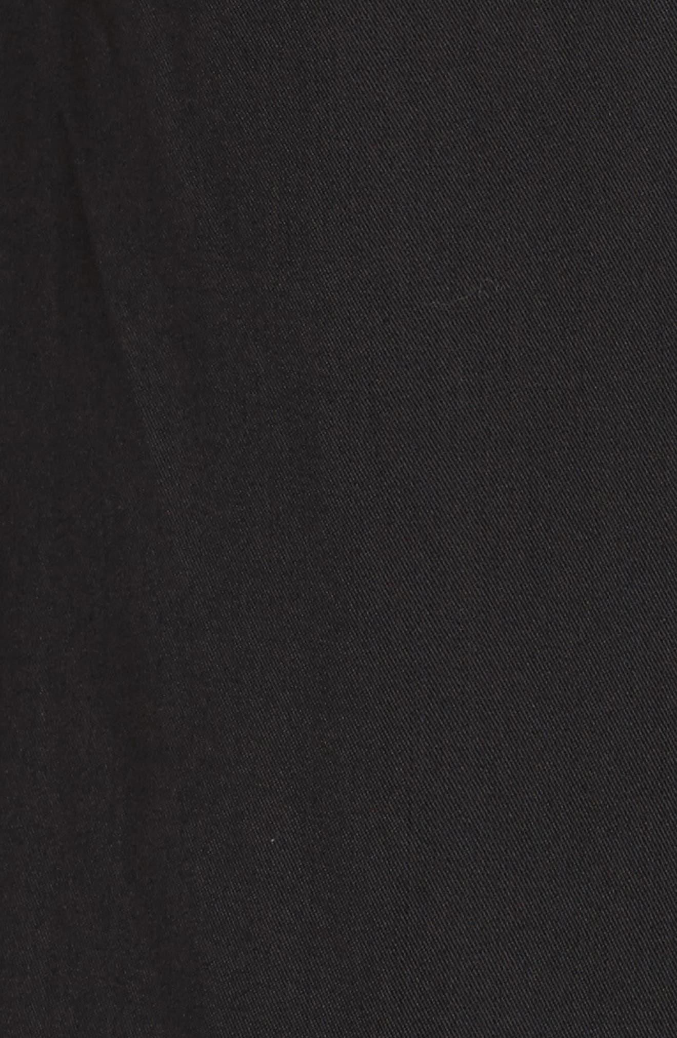 Blank Noir Hooded Water Resistant Anorak,                             Alternate thumbnail 7, color,                             001