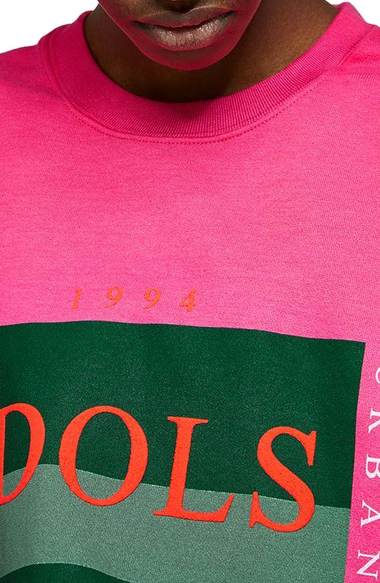 Urban Idols Graphic Sweatshirt,                             Alternate thumbnail 3, color,                             650
