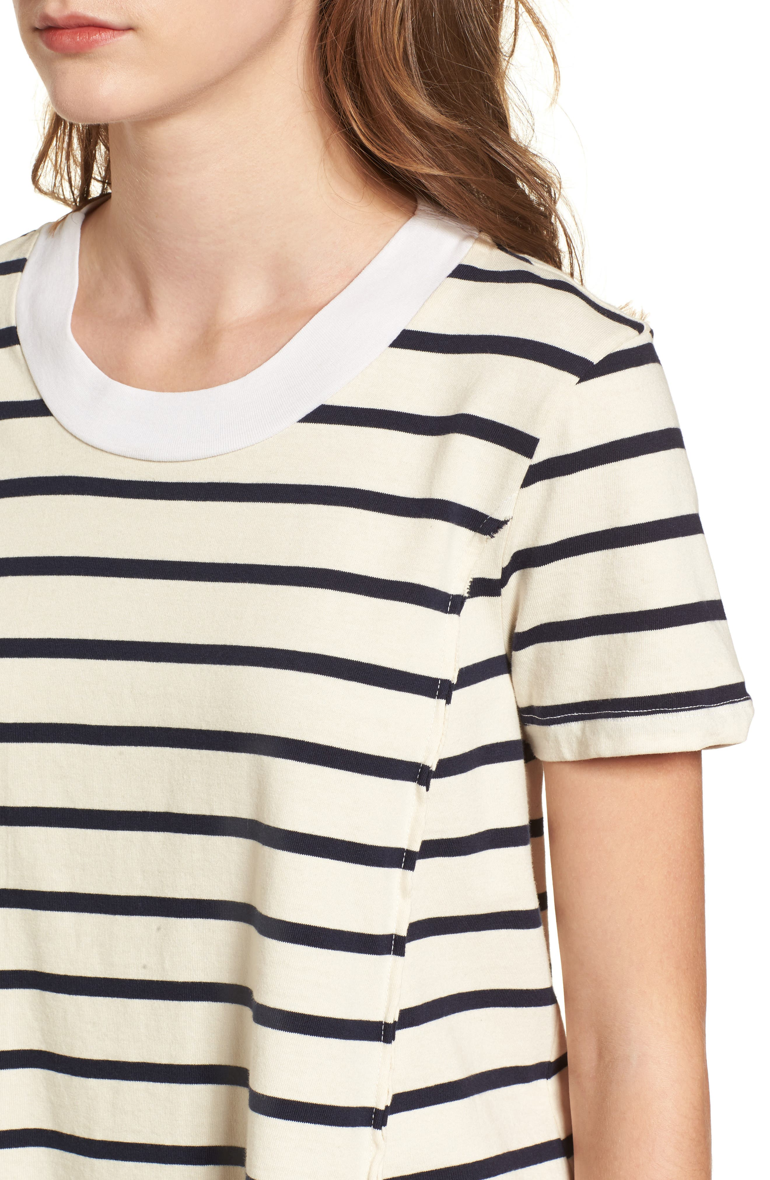 Stripe Swing Tee,                             Alternate thumbnail 4, color,                             900