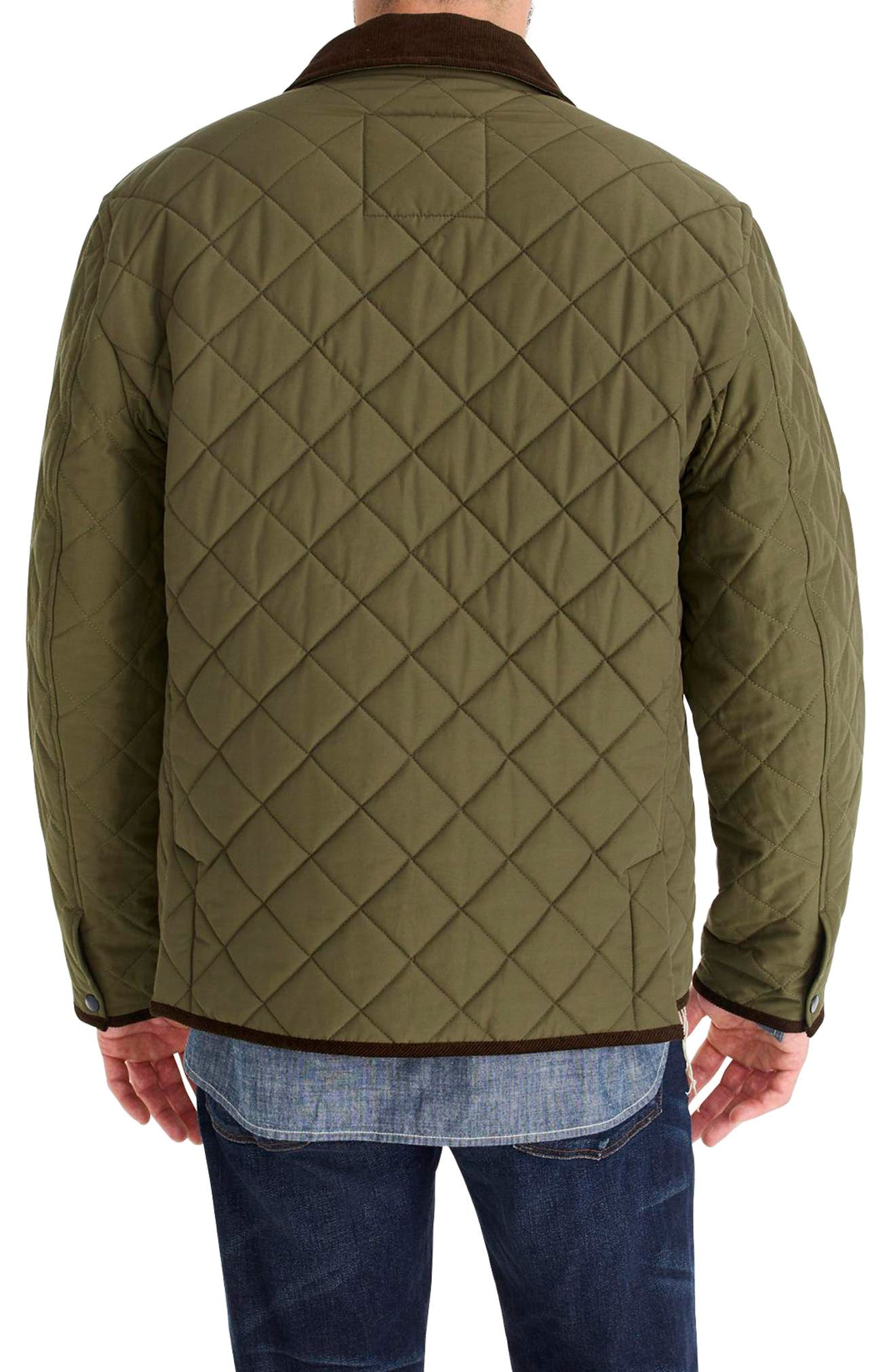 Sussex Quilted Jacket with Corduroy Collar,                             Alternate thumbnail 2, color,                             300