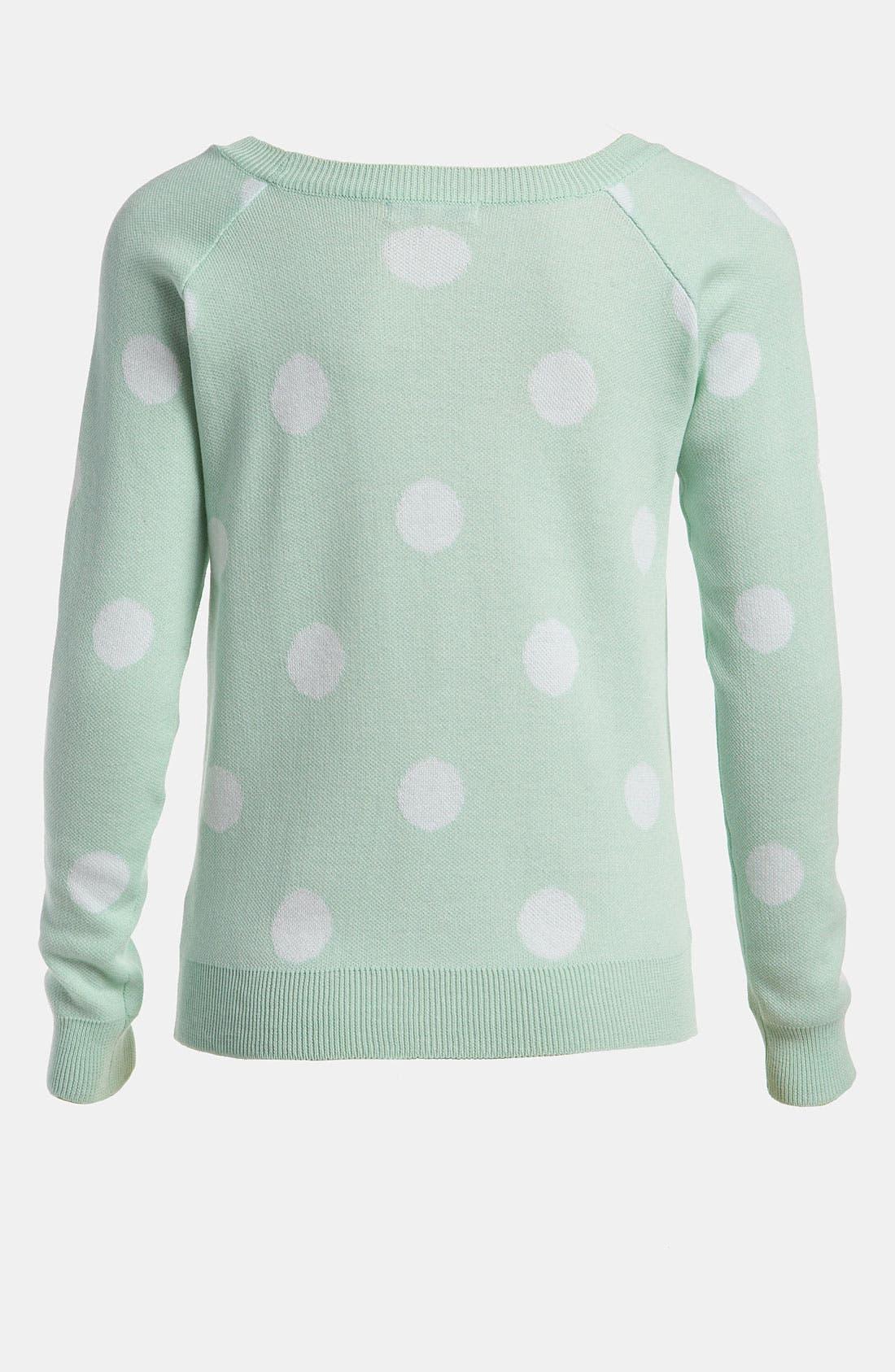 Polka Dot Sweater,                             Alternate thumbnail 3, color,                             442