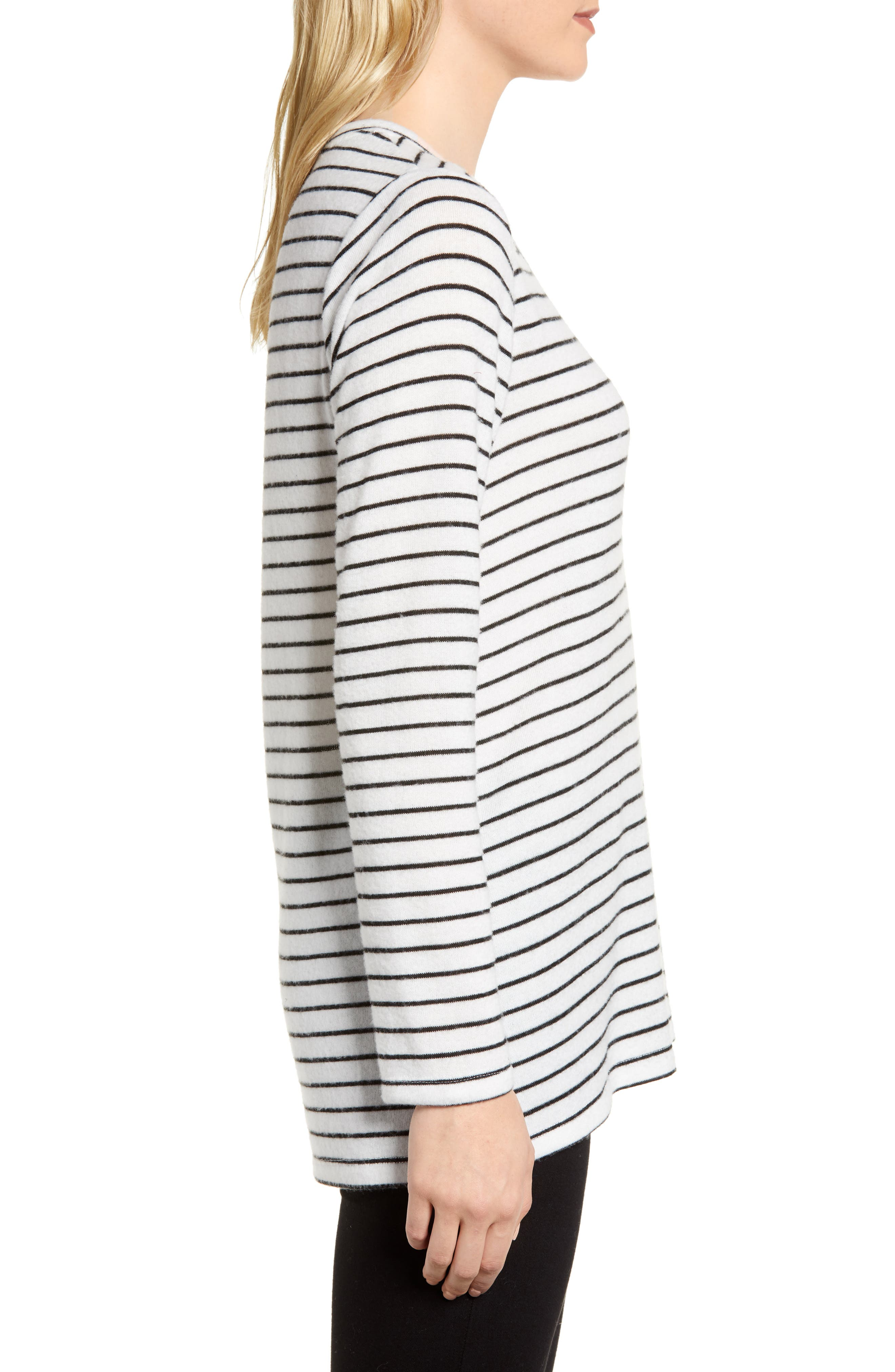 x Living in Yellow Steph Cozy Stripe Top,                             Alternate thumbnail 6, color,