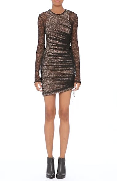 Alternate Video 7  - Alexander Wang Ruched Lace Dress