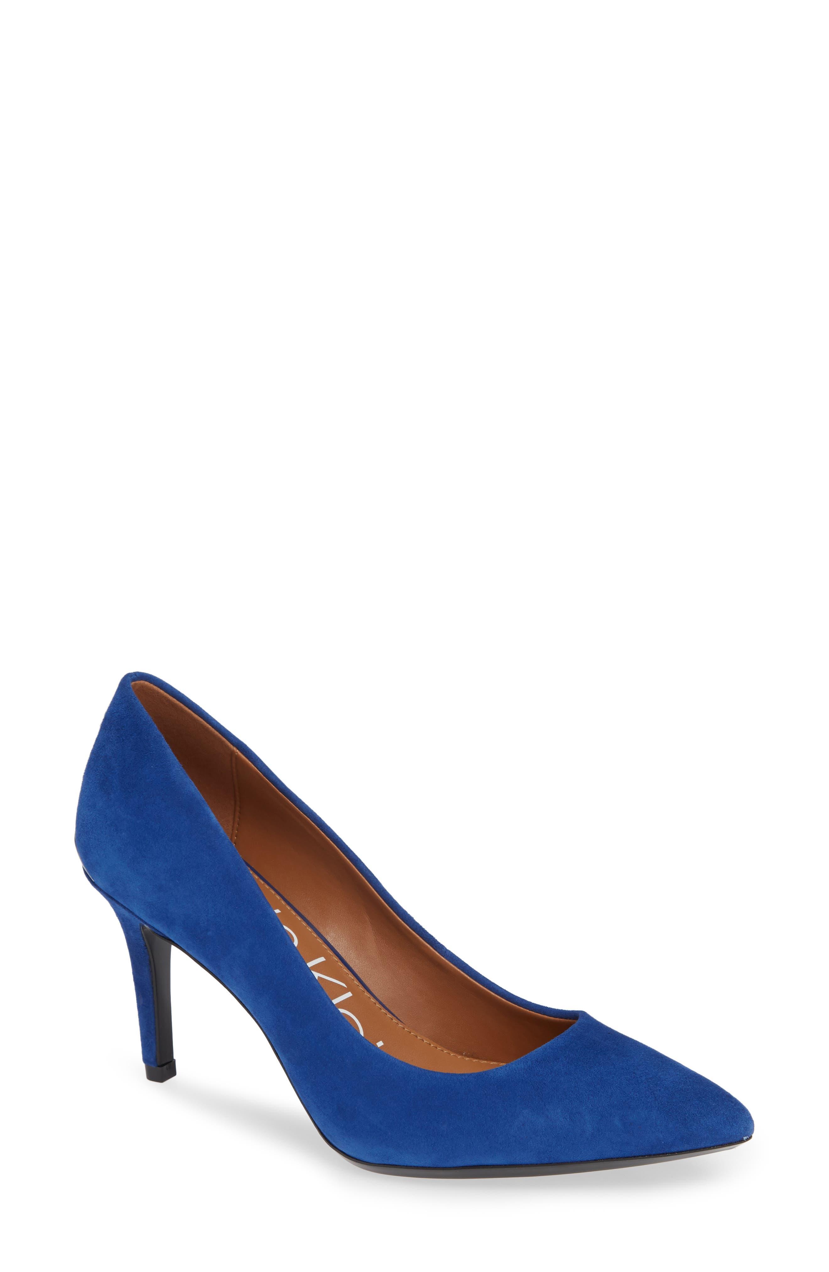 b1b595c4167 Calvin Klein  Gayle  Pointy Toe Pump- Blue