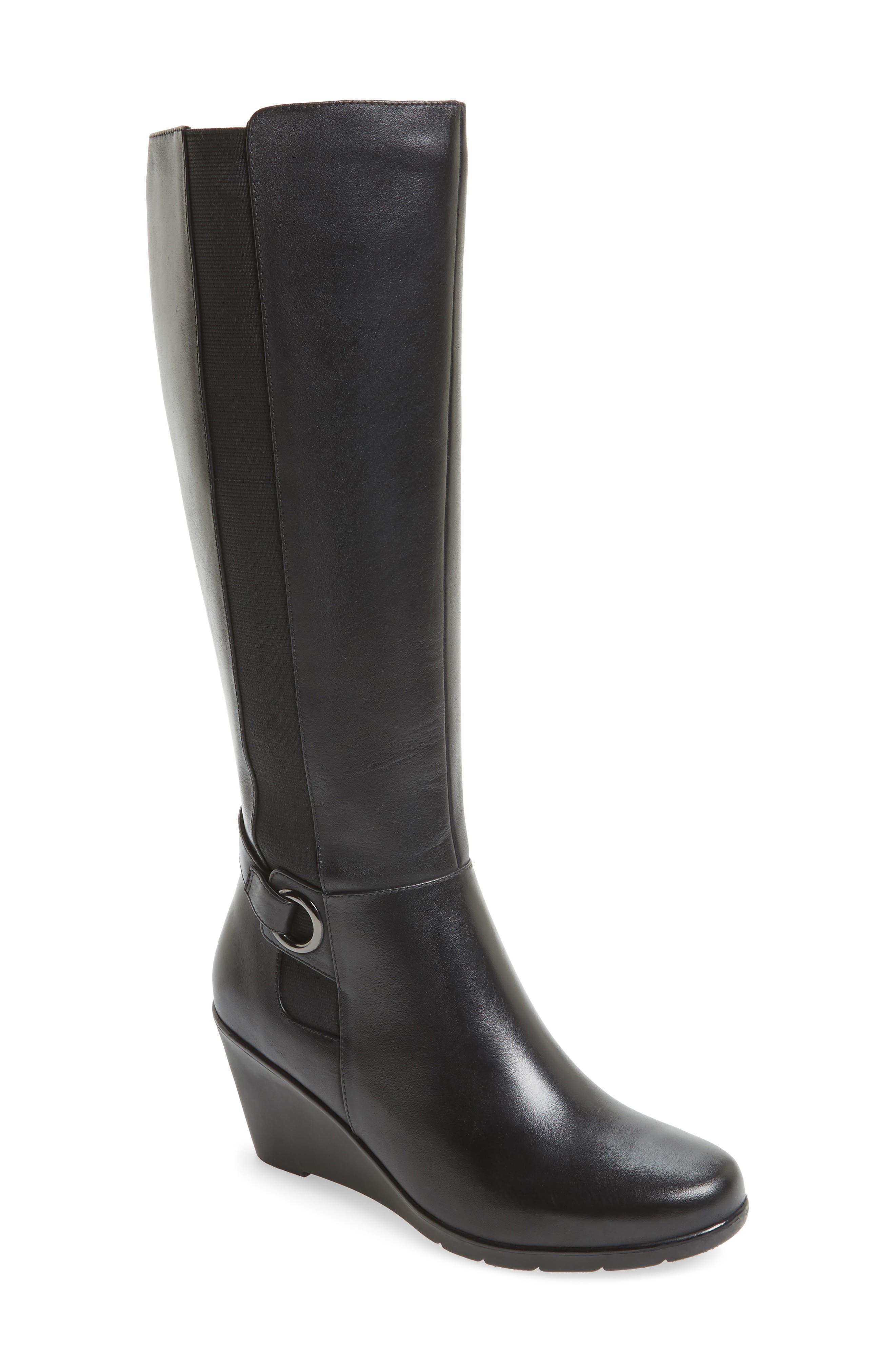Lexie Waterproof Knee High Boot,                             Main thumbnail 1, color,                             001