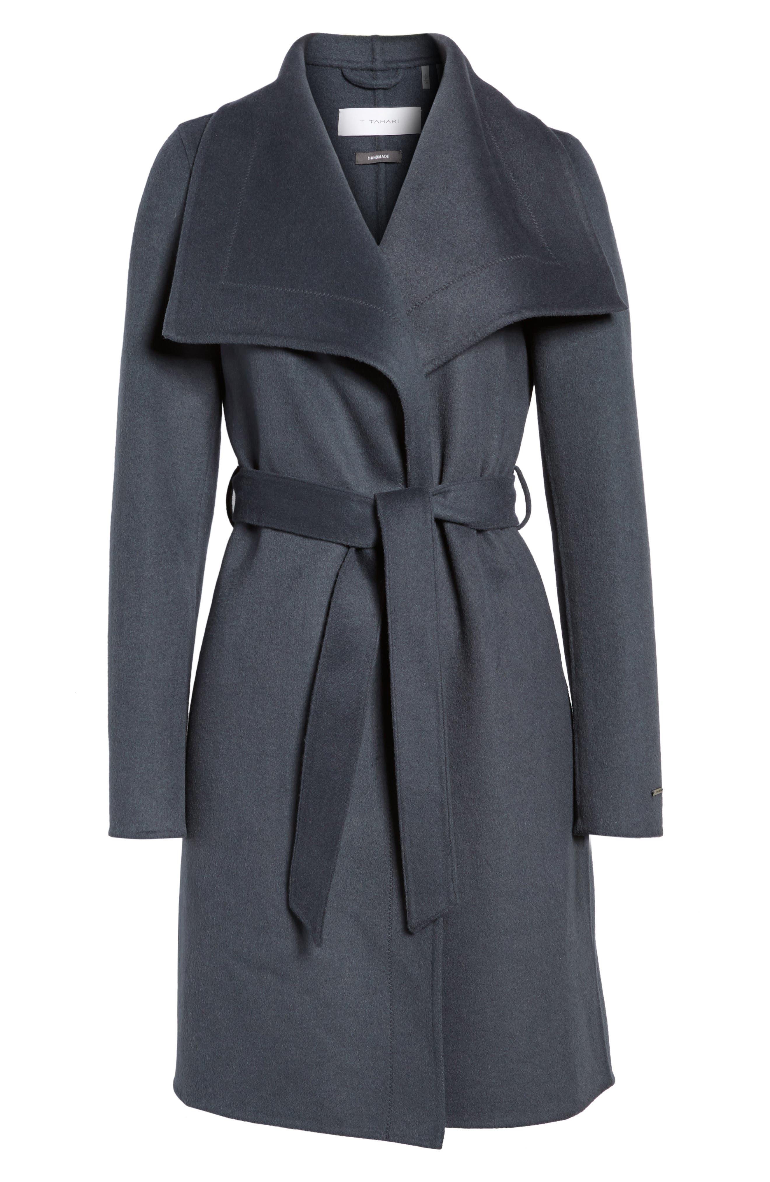 Ellie Double Face Wool Blend Wrap Coat,                             Alternate thumbnail 14, color,