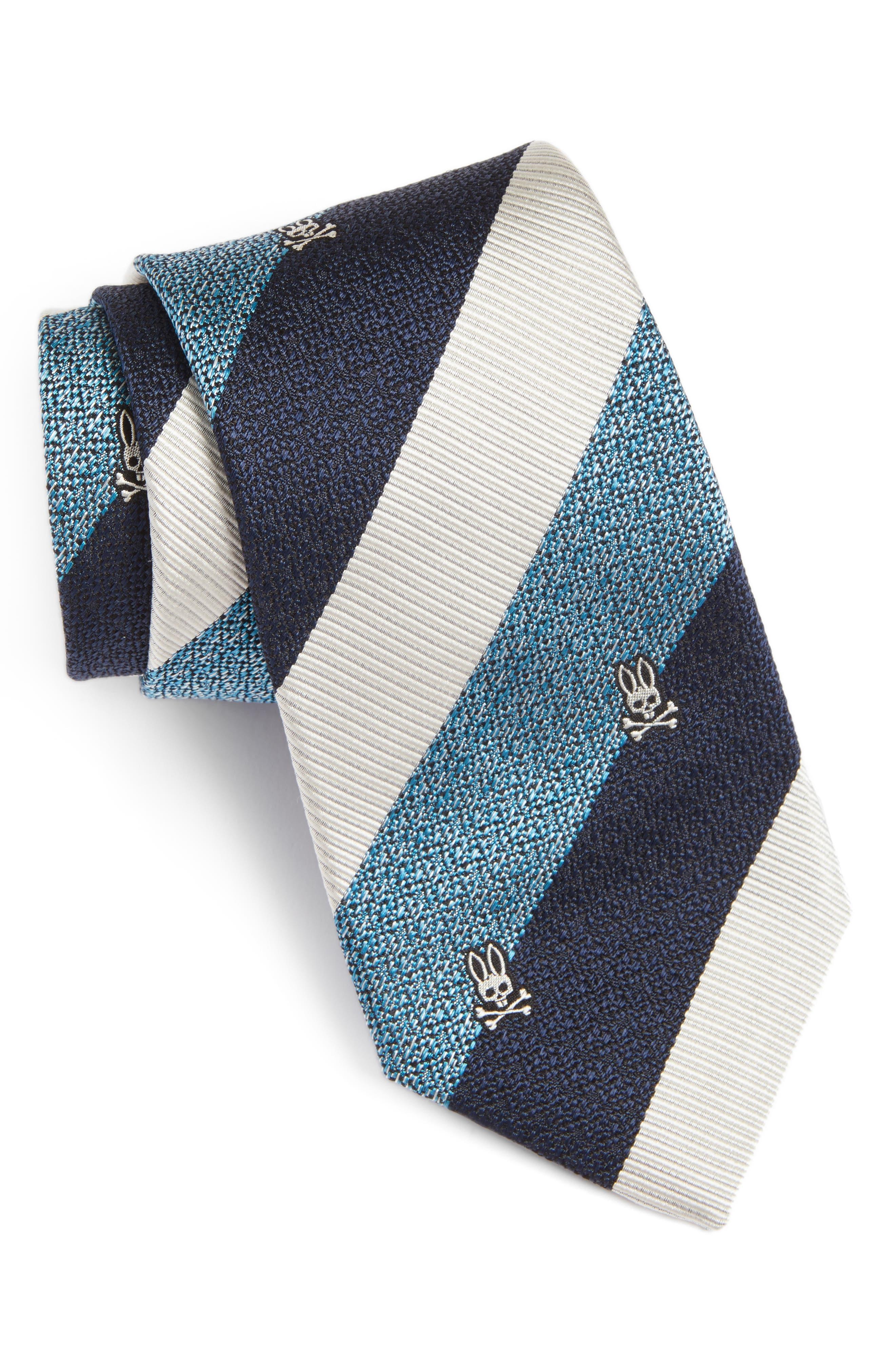 Wide Stripe Silk Tie,                             Main thumbnail 4, color,