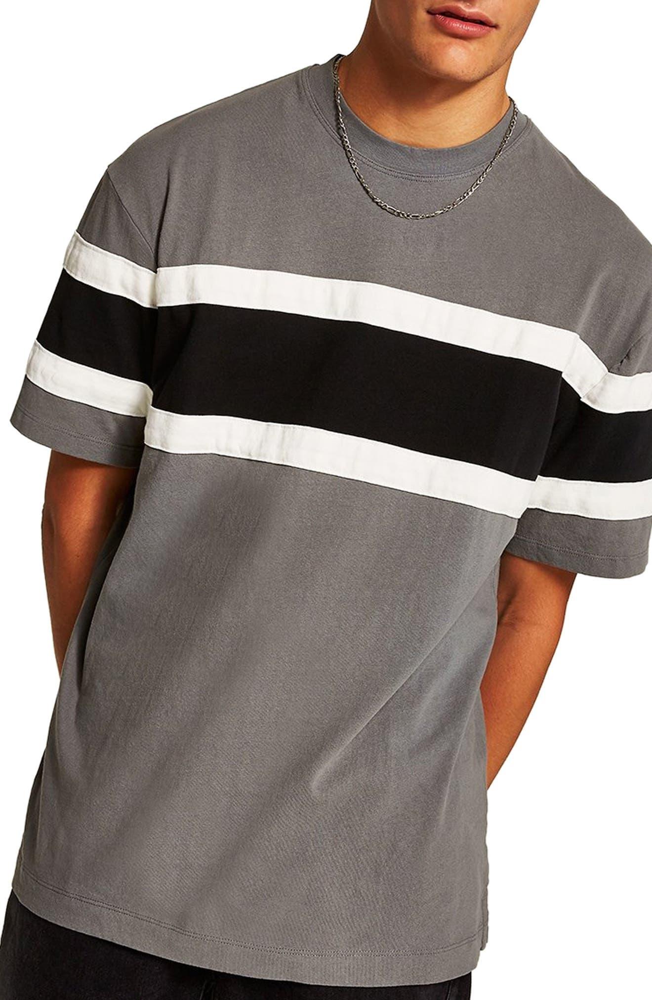 Oversize Colorblock T-Shirt,                         Main,                         color, BLACK MULTI