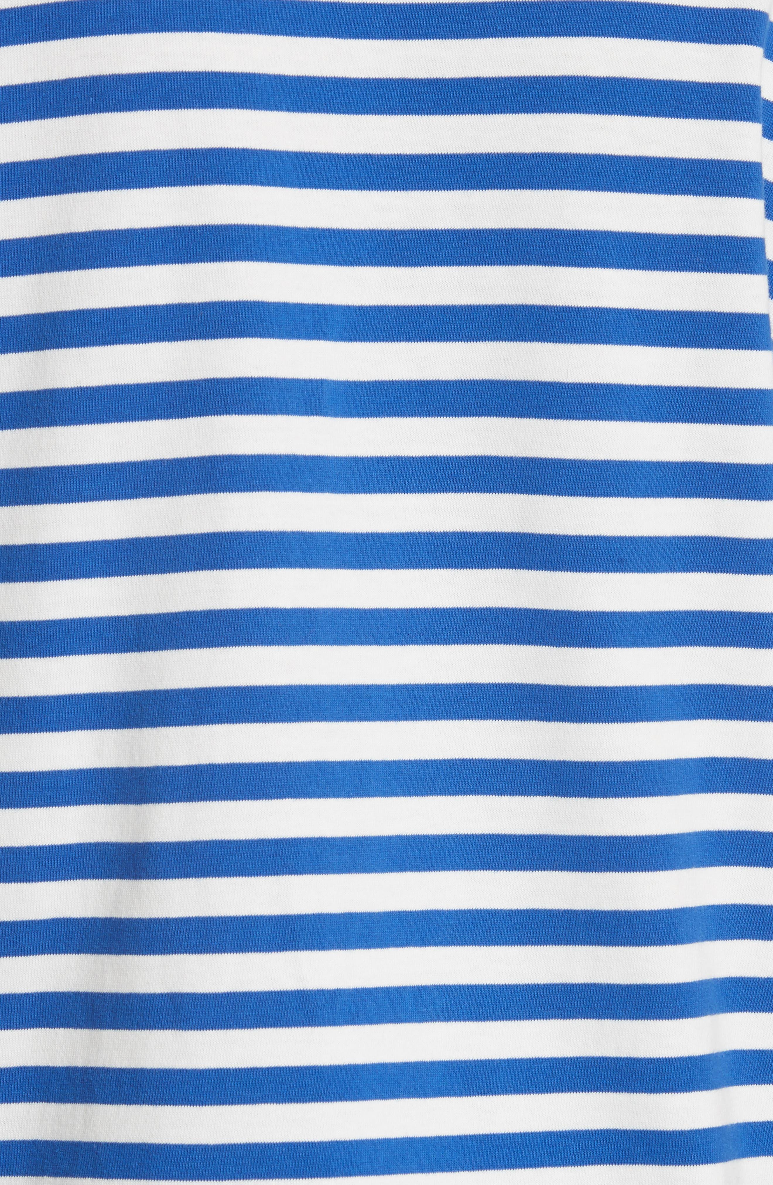 Little Grumps Stripe Tee,                             Alternate thumbnail 5, color,                             SLALOM BLUE CLASSIC STRIPE