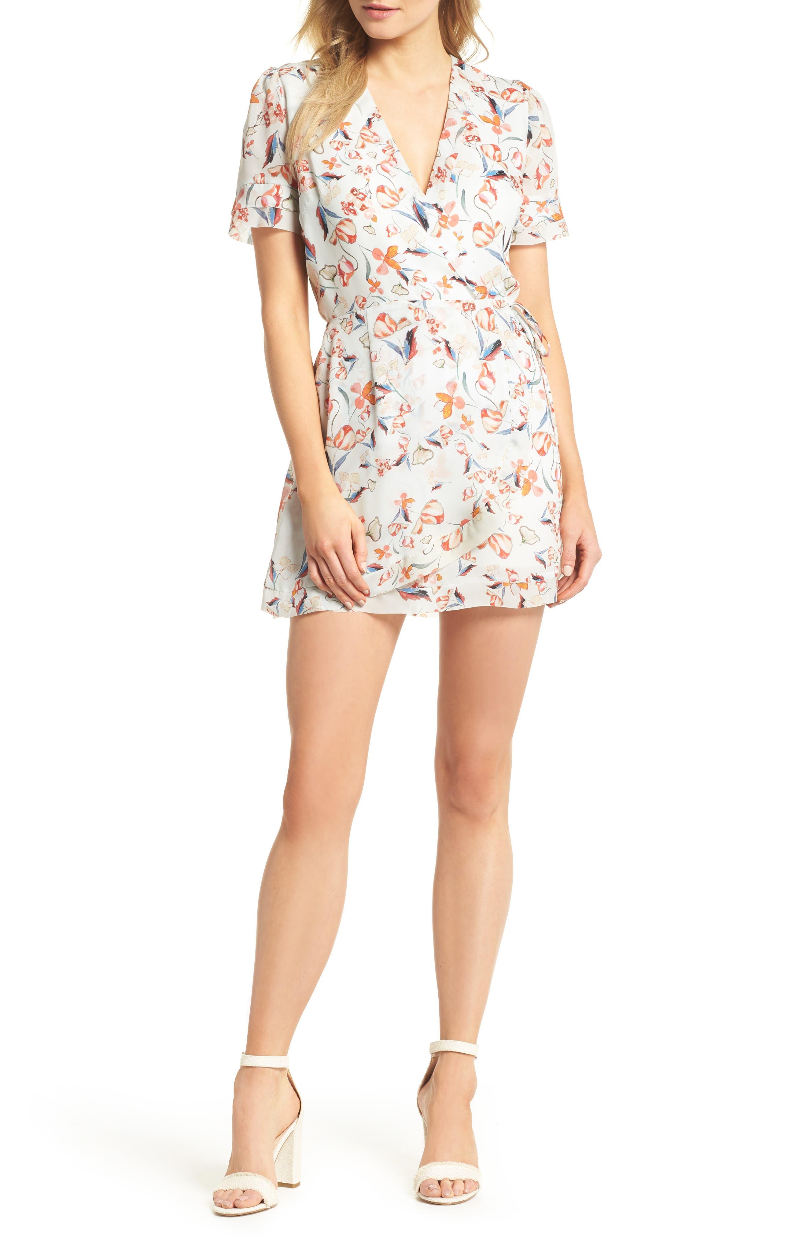 Tiffany Wrap Style Romper,                         Main,                         color,