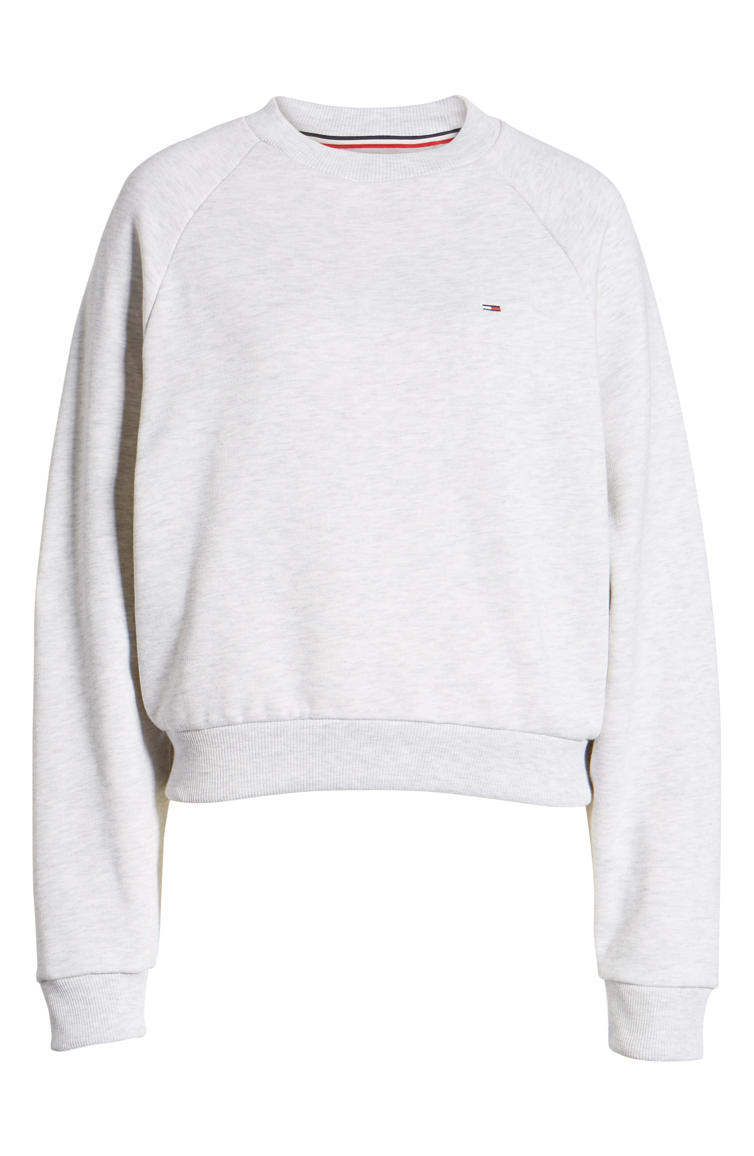 TJW Raglan Sweatshirt,                             Alternate thumbnail 6, color,                             PALE GREY HEATHER