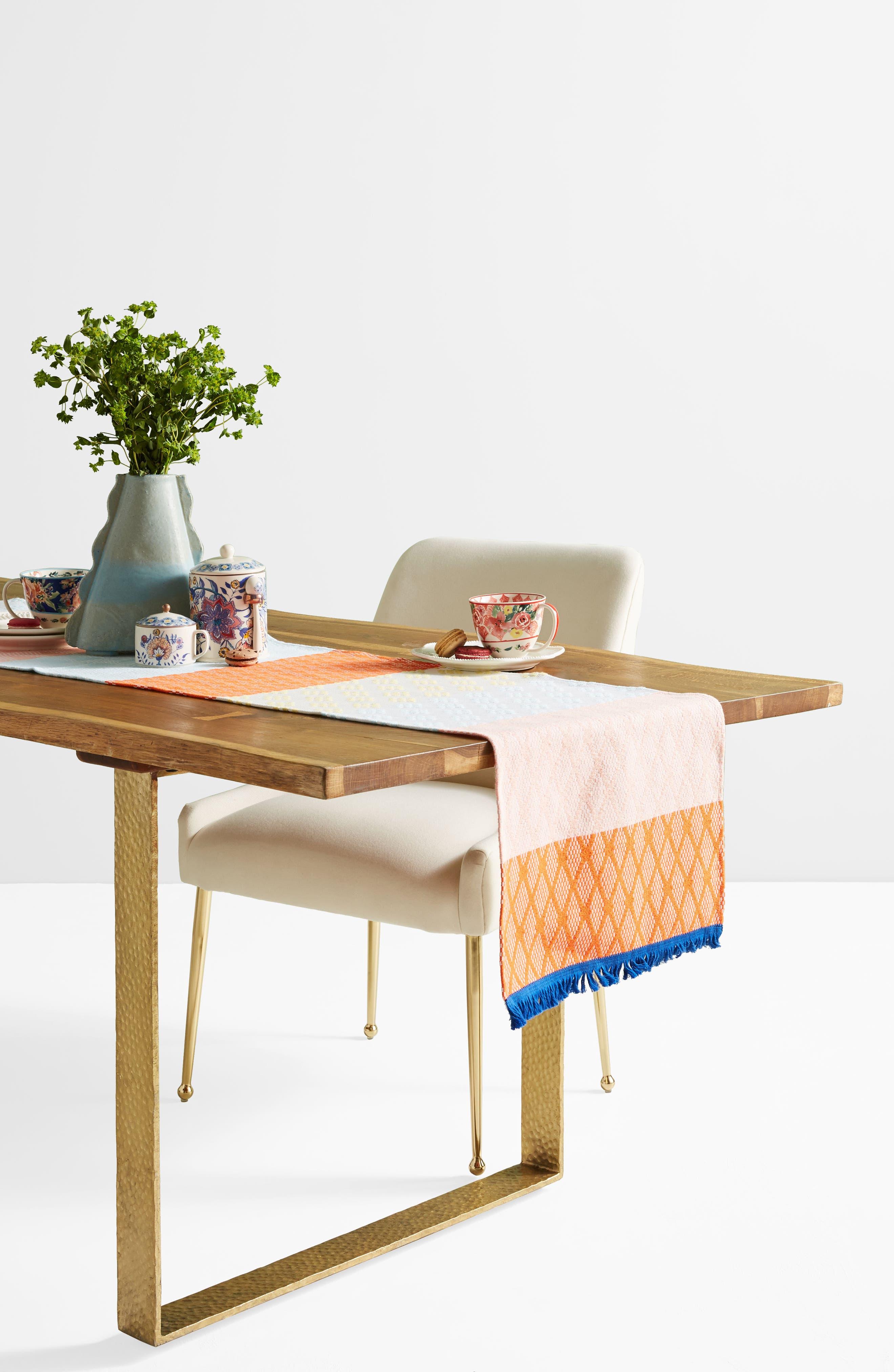 Hermine Van Dijck Jacquard Table Runner,                             Alternate thumbnail 4, color,                             900