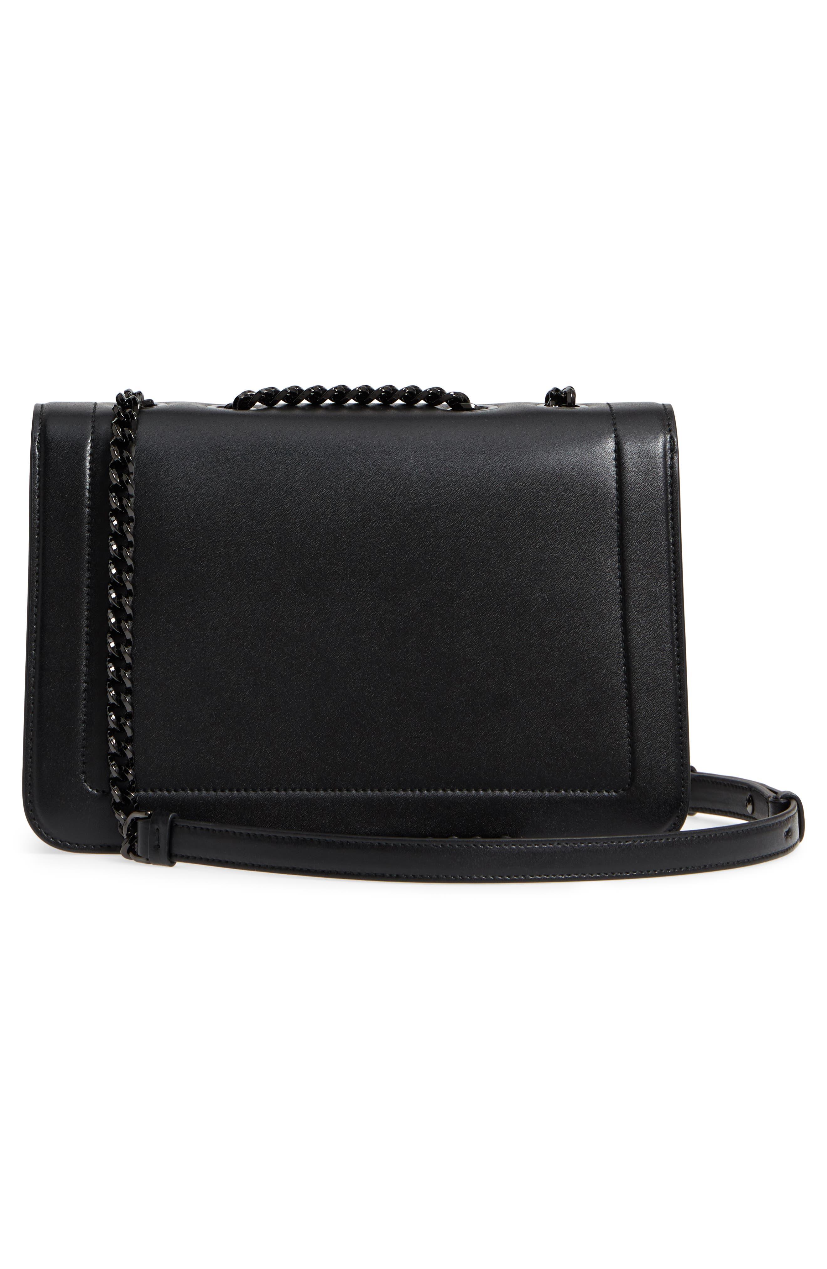 Vara Leather Crossbody Bag,                             Alternate thumbnail 3, color,                             NERO