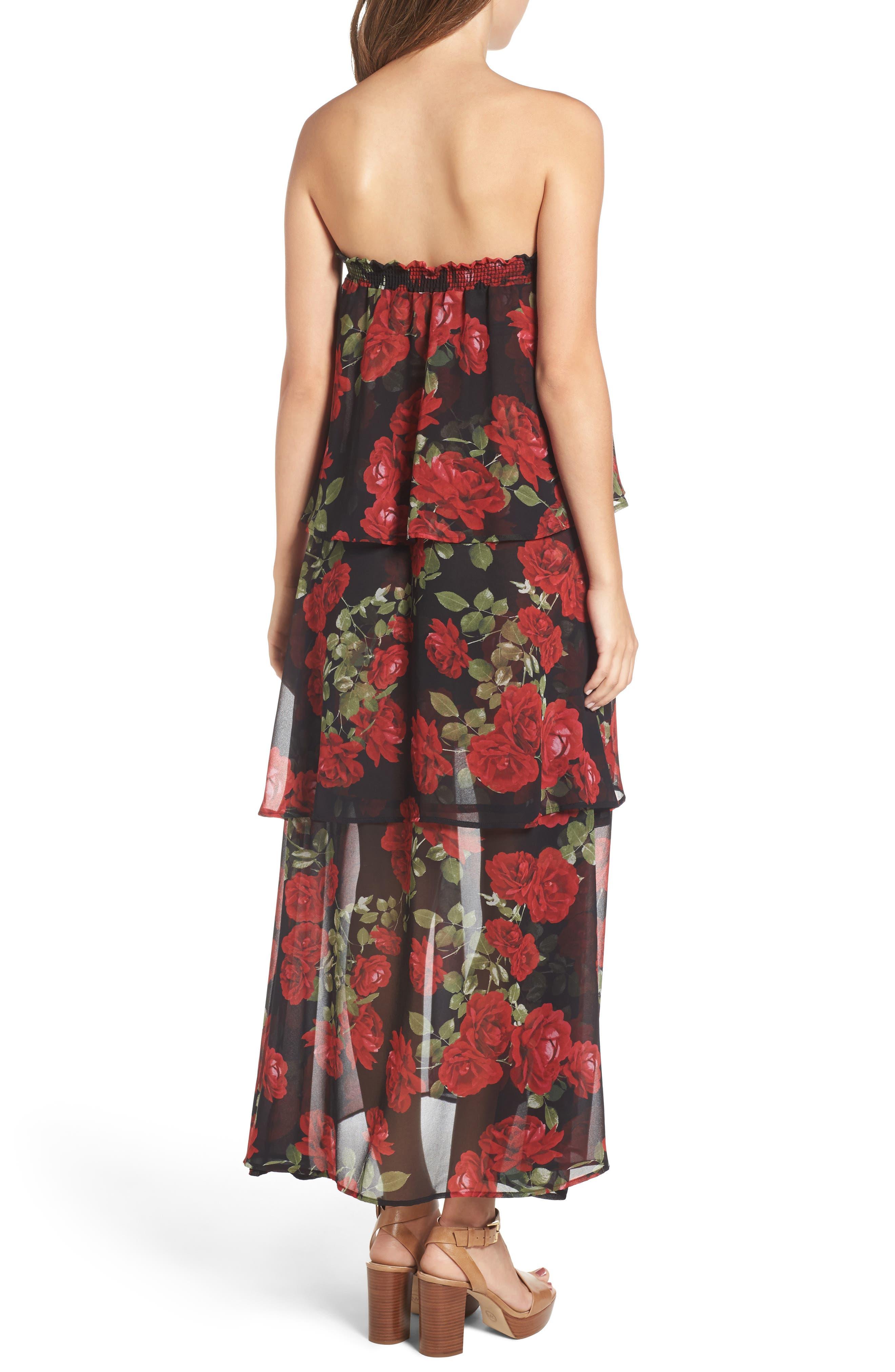 Karla Convertible Strapless Dress,                             Alternate thumbnail 5, color,