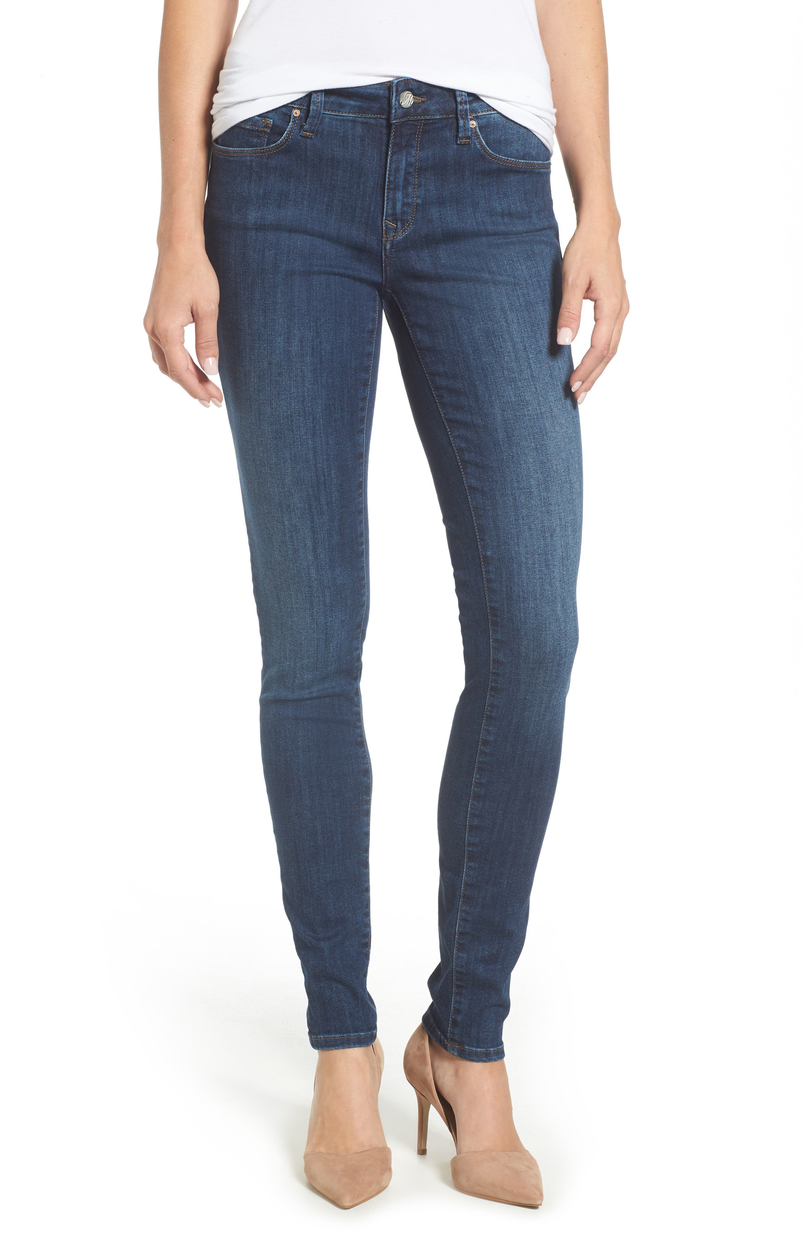 Adriana Stretch Skinny Jeans,                             Main thumbnail 1, color,                             401