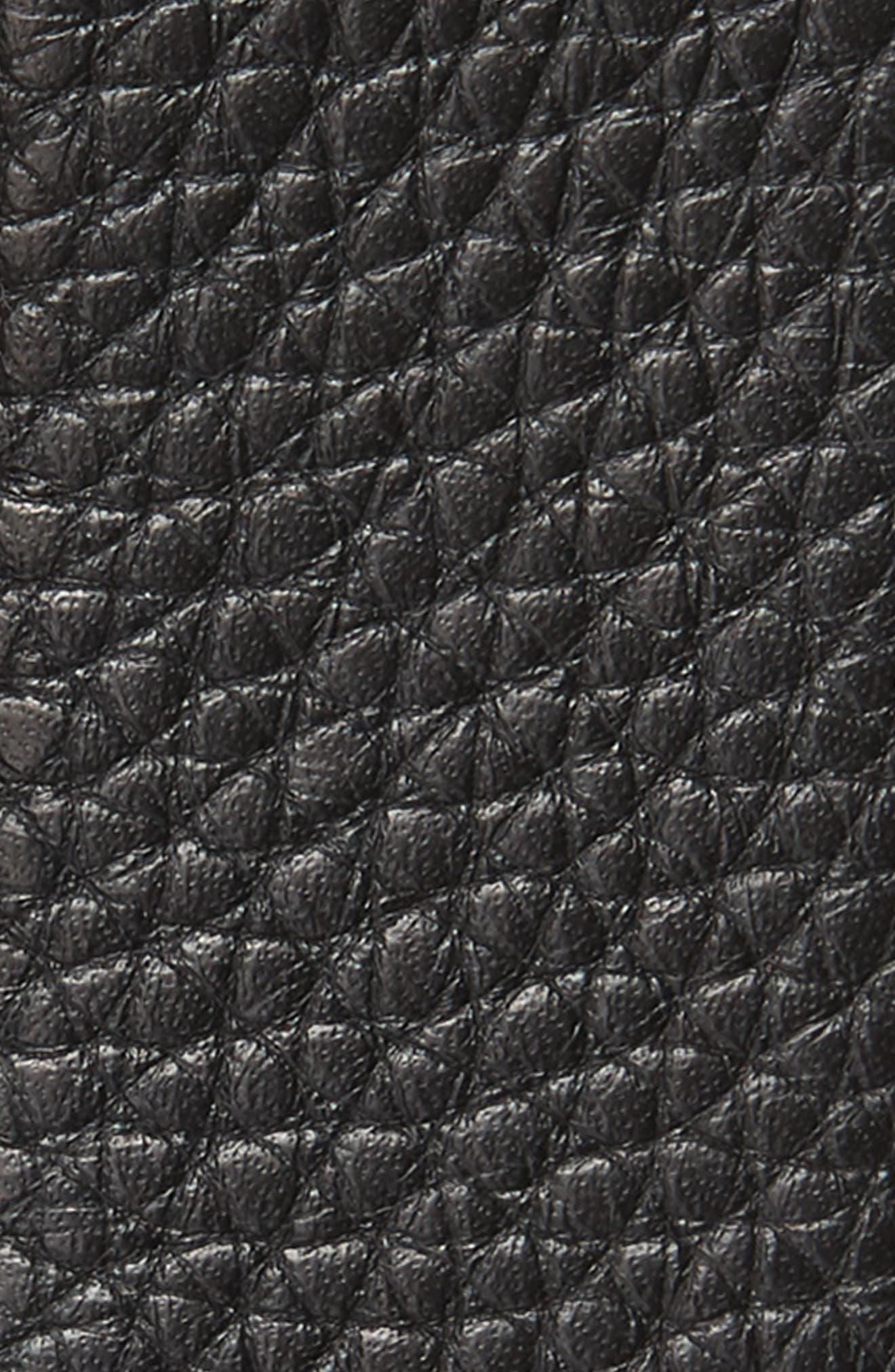 Panini Leather Belt,                             Alternate thumbnail 2, color,                             NERO