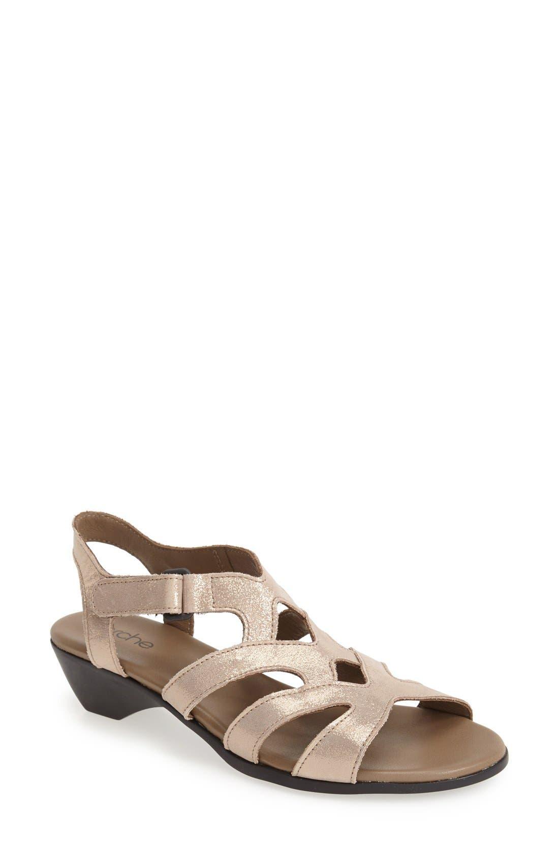 'Obela' Water Resistant Leather Sandal,                             Main thumbnail 3, color,