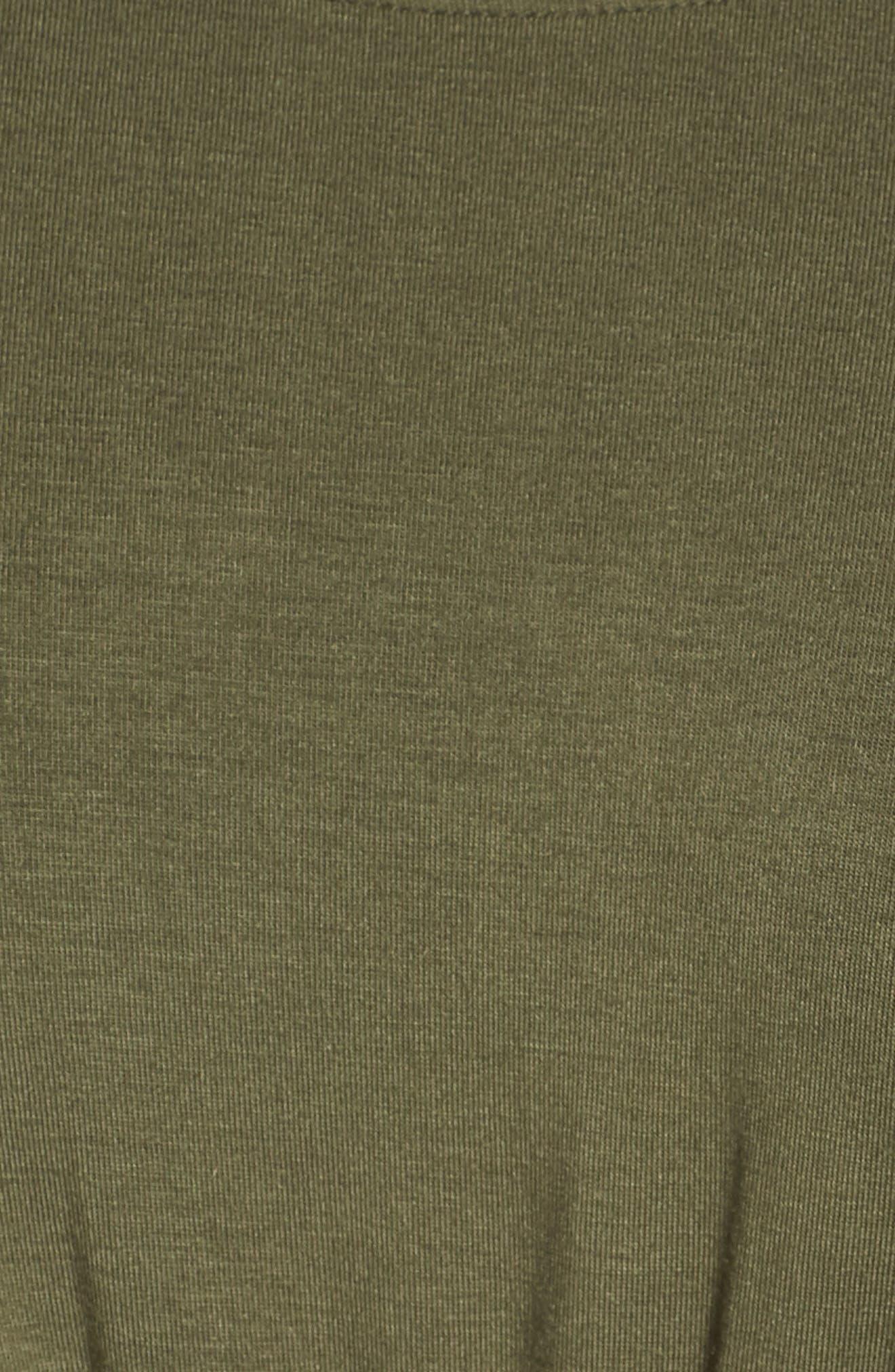 Gathered Waist Knit Top,                             Alternate thumbnail 5, color,                             OLIVE SARMA