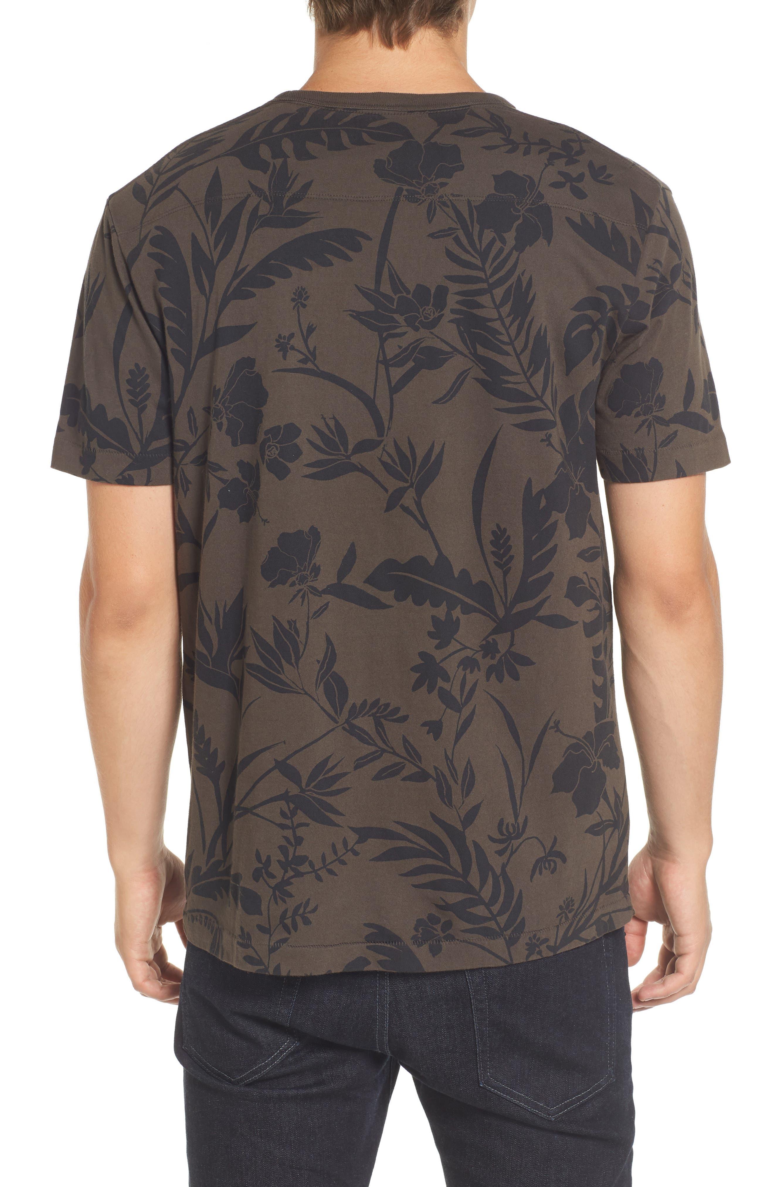 Floral Print T-Shirt,                             Alternate thumbnail 2, color,